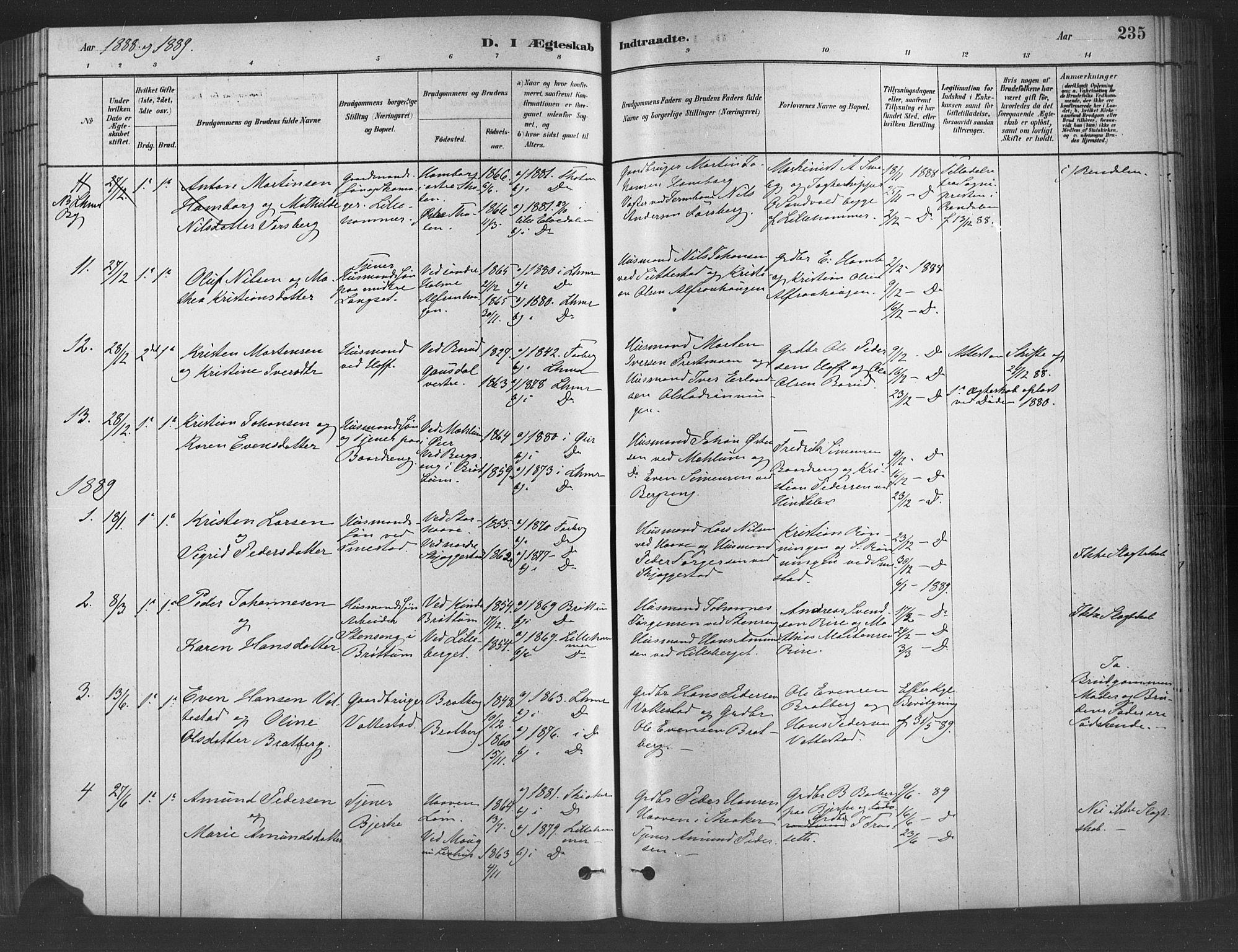 SAH, Fåberg prestekontor, Ministerialbok nr. 9, 1879-1898, s. 235