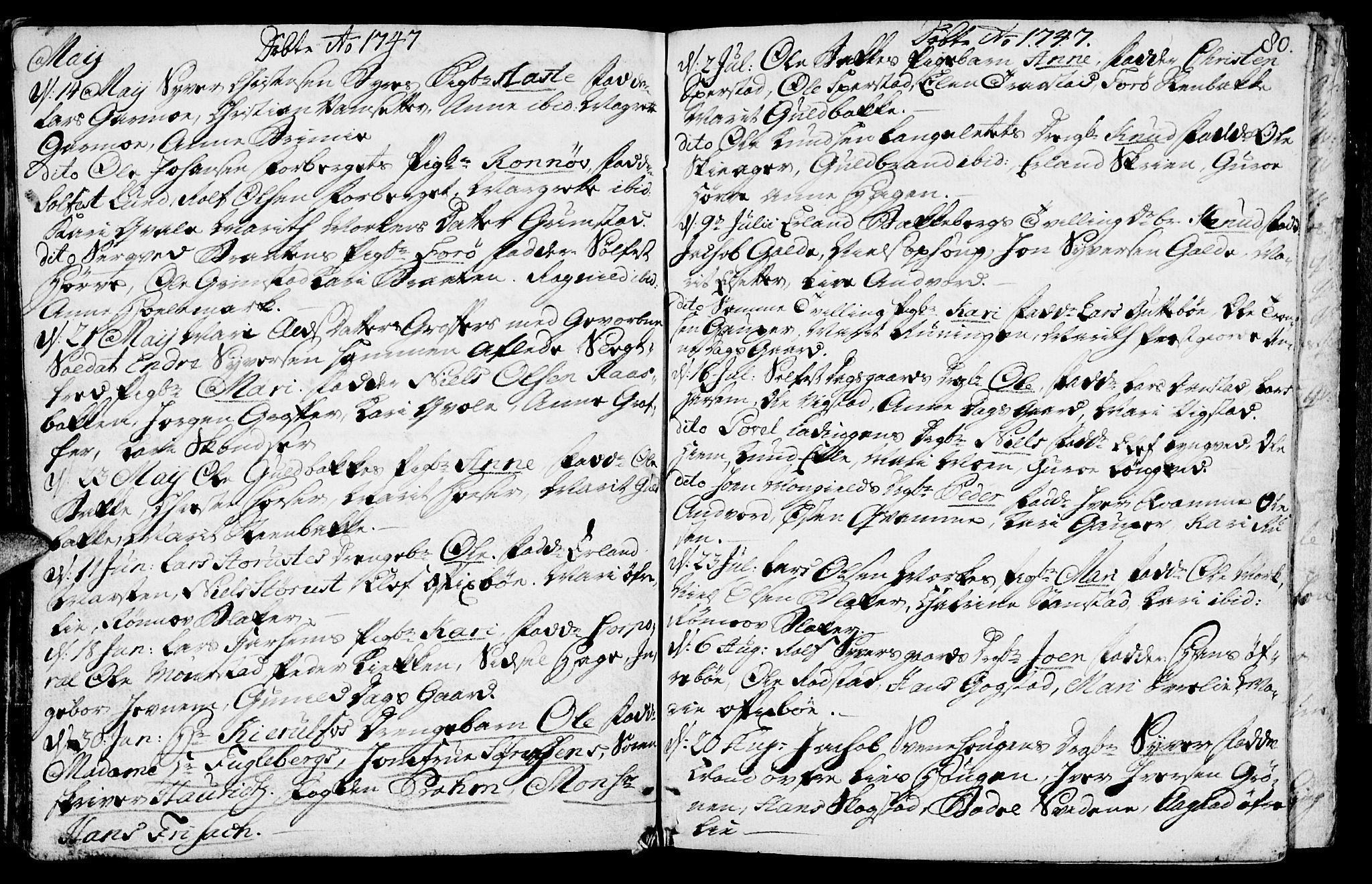 SAH, Lom prestekontor, K/L0001: Ministerialbok nr. 1, 1733-1748, s. 80