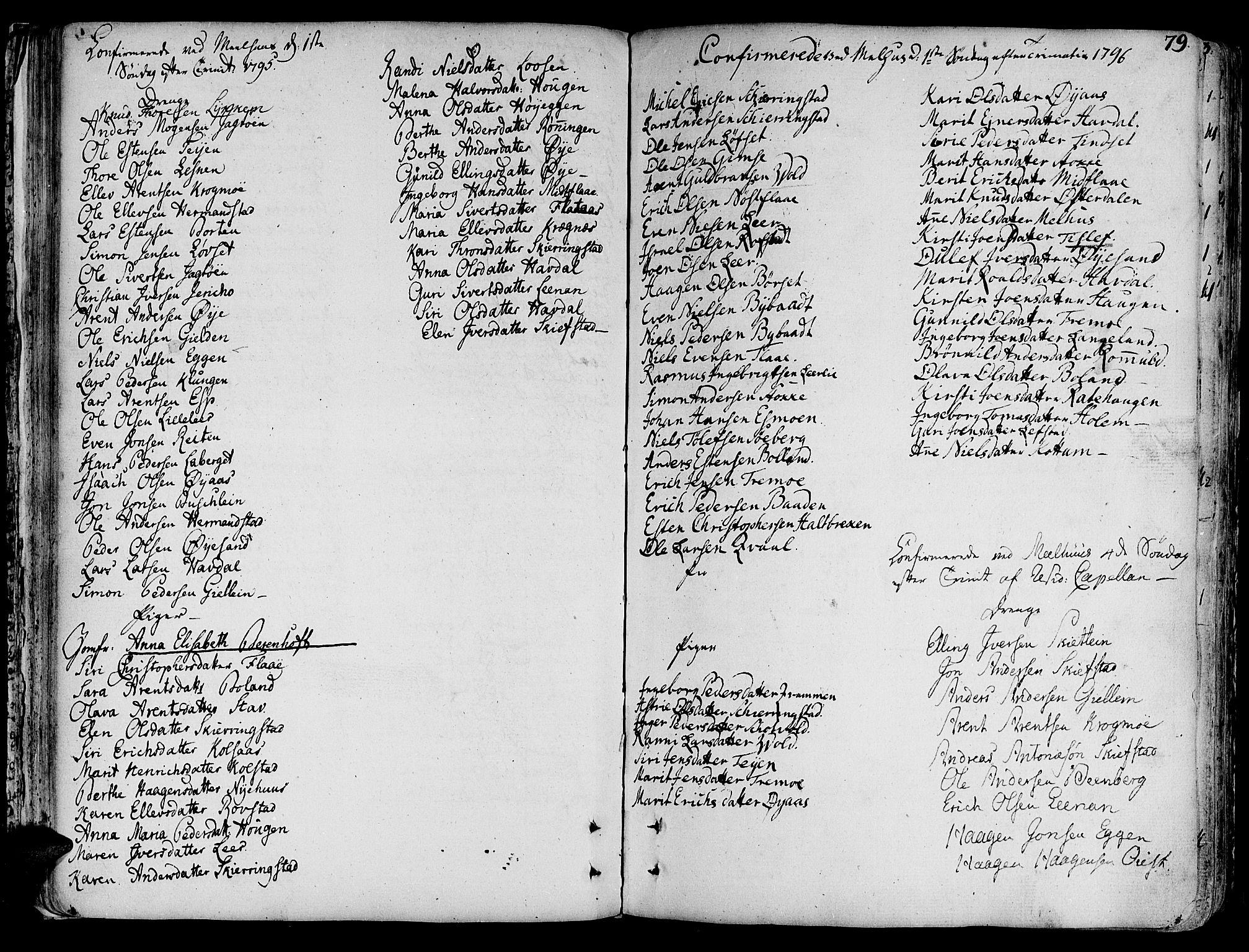 SAT, Ministerialprotokoller, klokkerbøker og fødselsregistre - Sør-Trøndelag, 691/L1061: Ministerialbok nr. 691A02 /1, 1768-1815, s. 79