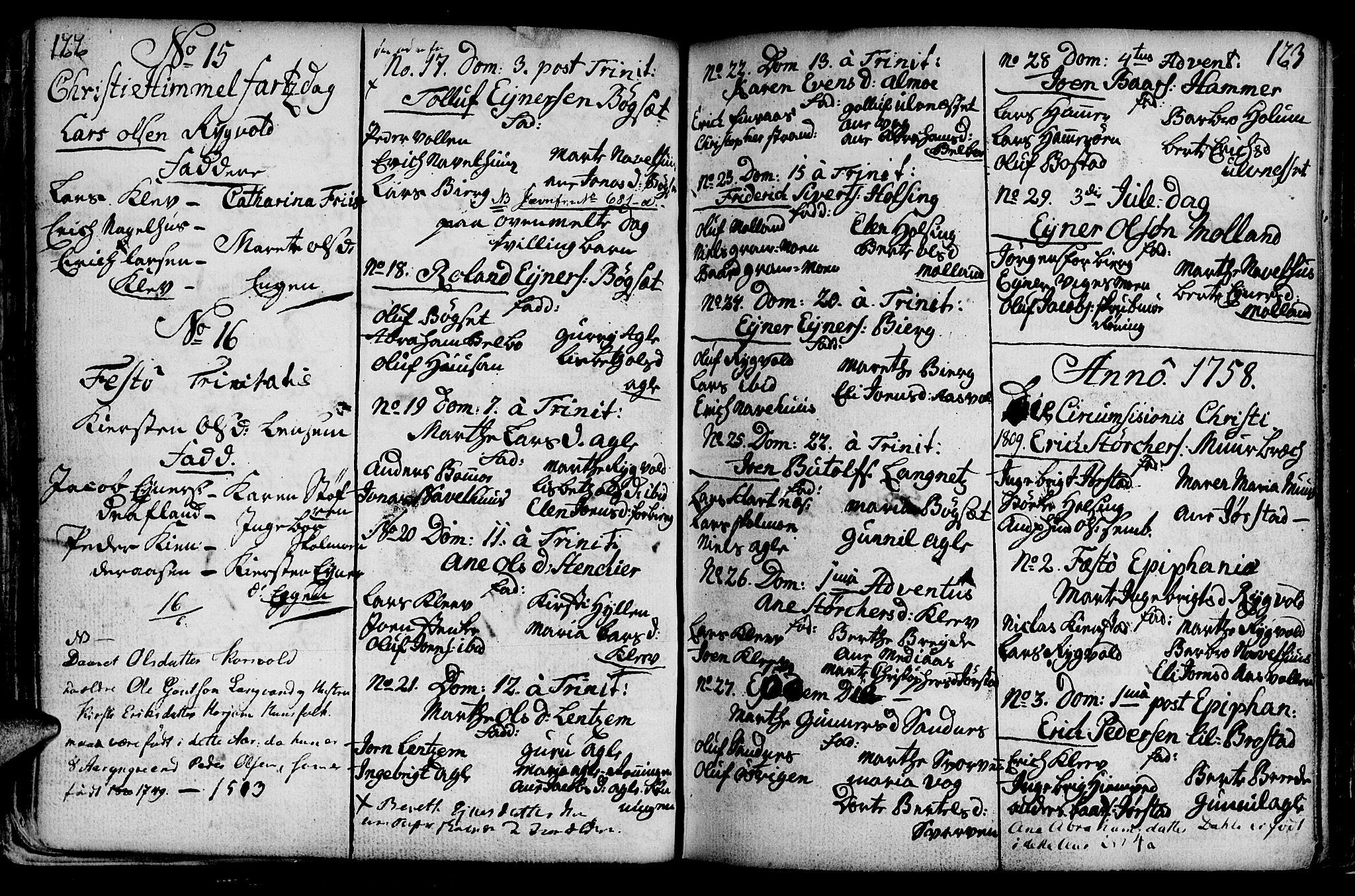 SAT, Ministerialprotokoller, klokkerbøker og fødselsregistre - Nord-Trøndelag, 749/L0467: Ministerialbok nr. 749A01, 1733-1787, s. 122-123