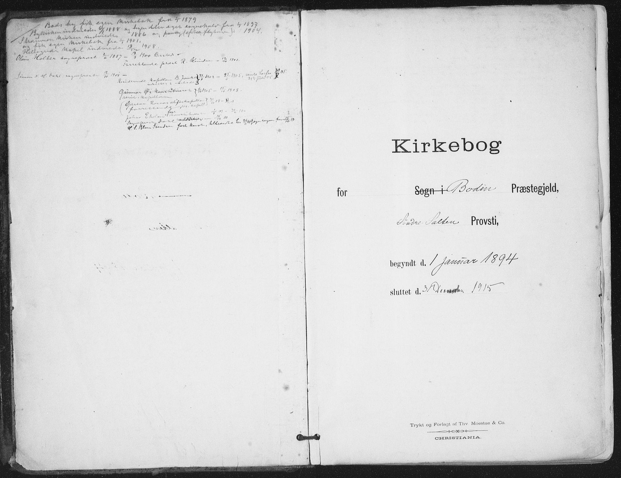 SAT, Ministerialprotokoller, klokkerbøker og fødselsregistre - Nordland, 802/L0055: Ministerialbok nr. 802A02, 1894-1915