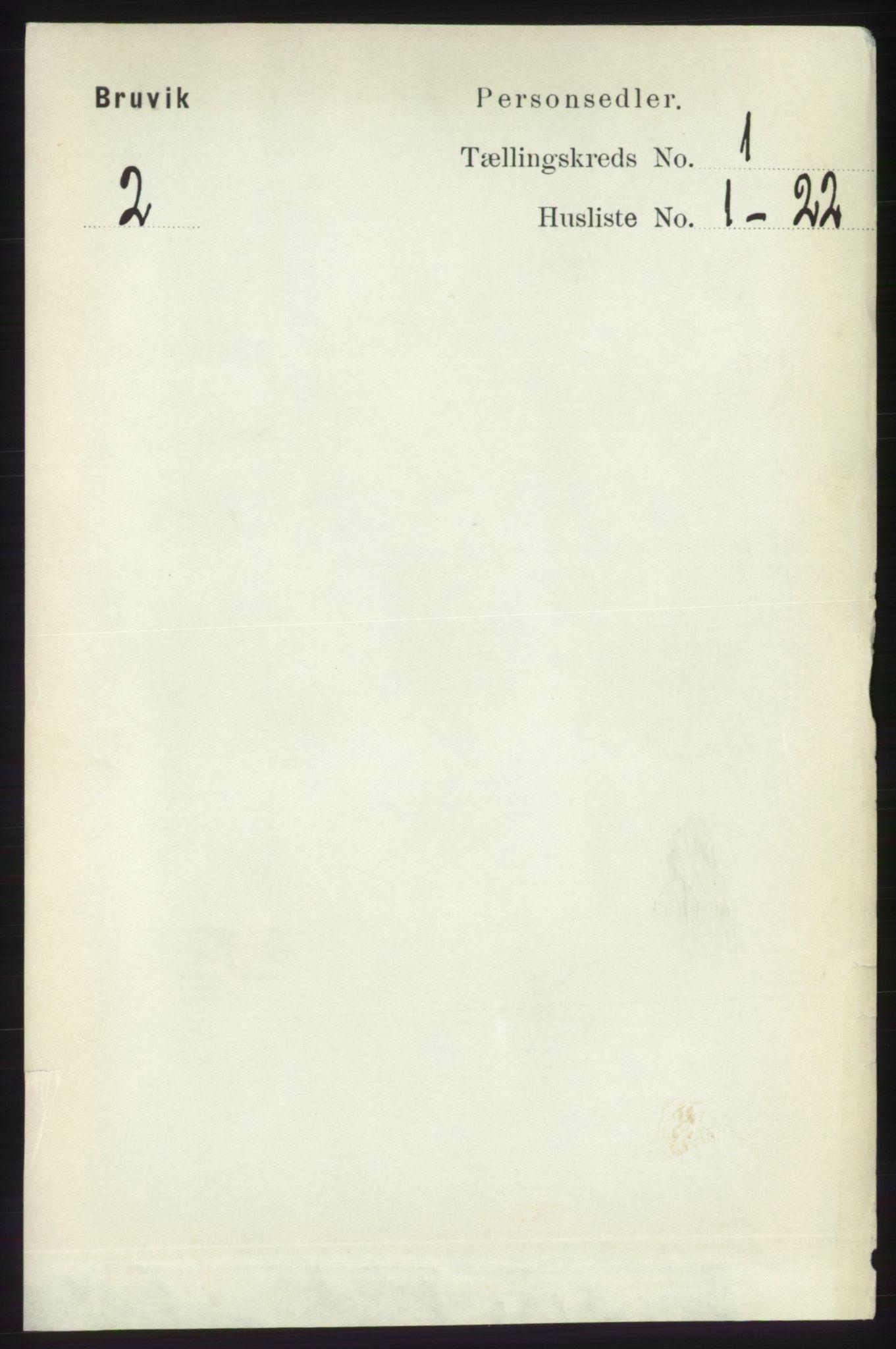 RA, Folketelling 1891 for 1251 Bruvik herred, 1891, s. 70
