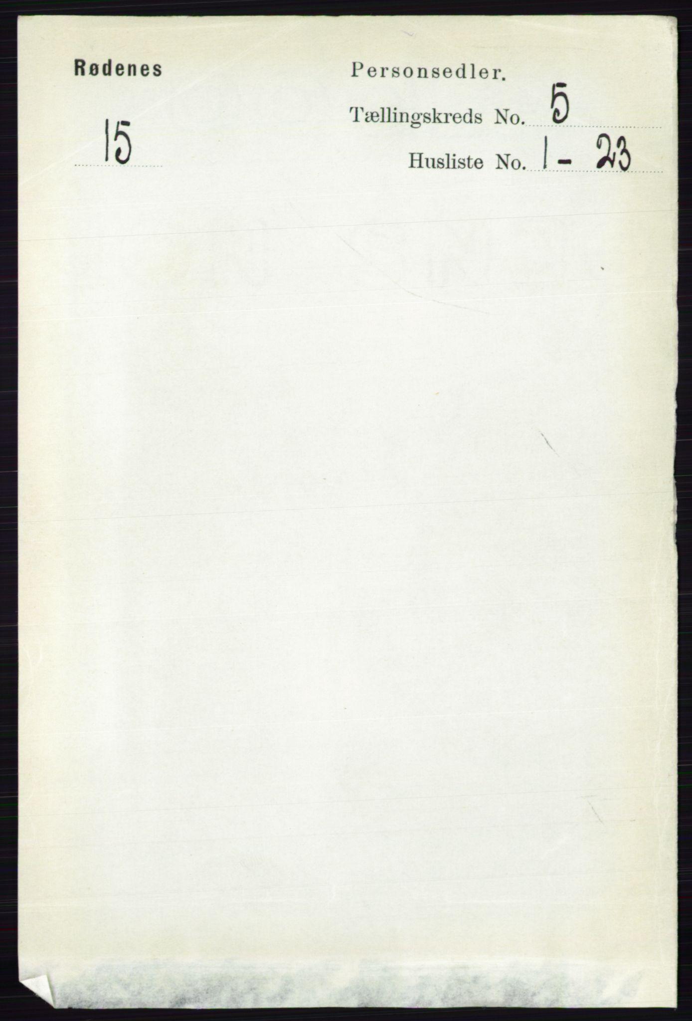 RA, Folketelling 1891 for 0120 Rødenes herred, 1891, s. 2095