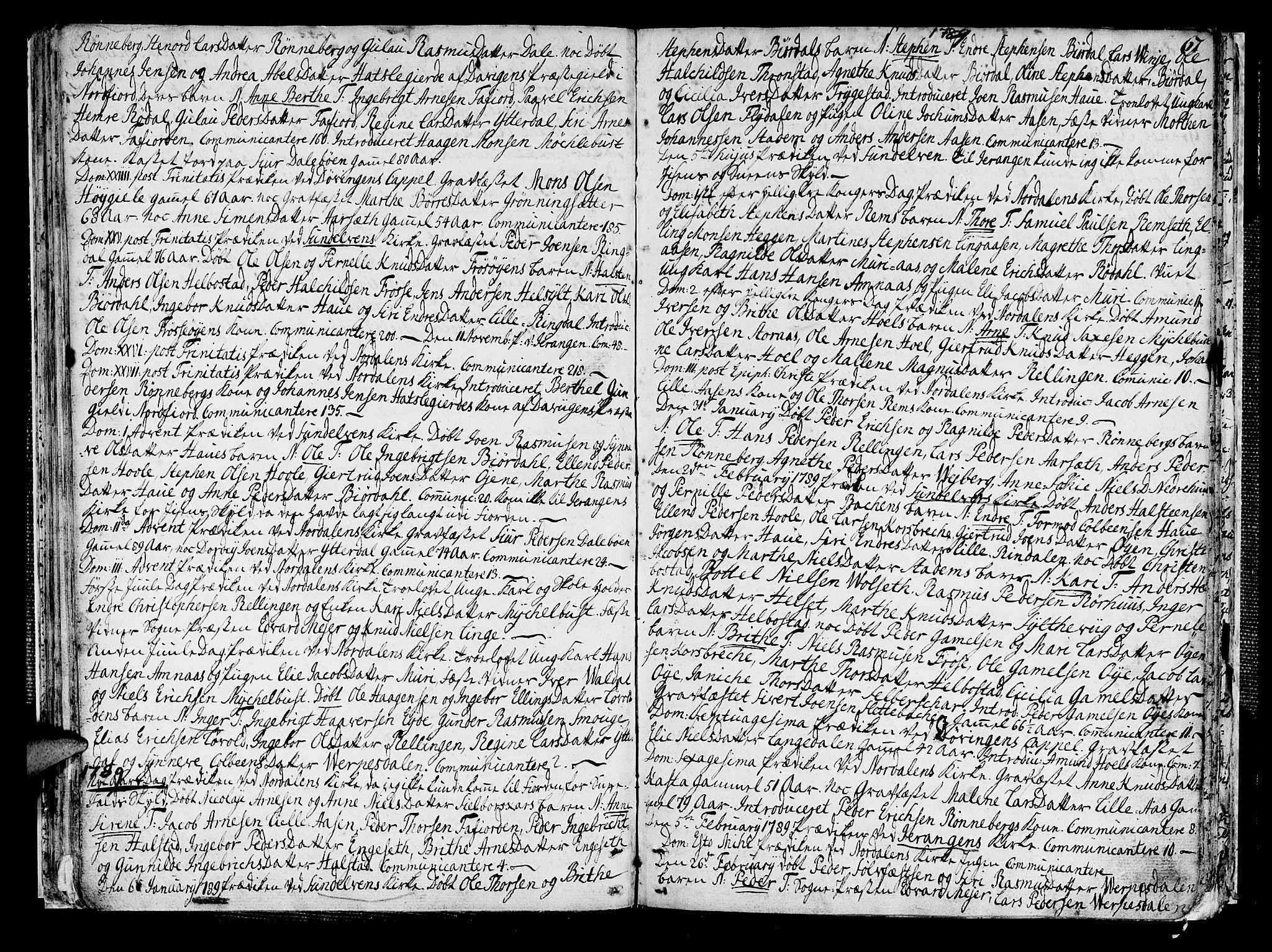 SAT, Ministerialprotokoller, klokkerbøker og fødselsregistre - Møre og Romsdal, 519/L0245: Ministerialbok nr. 519A04, 1774-1816, s. 67