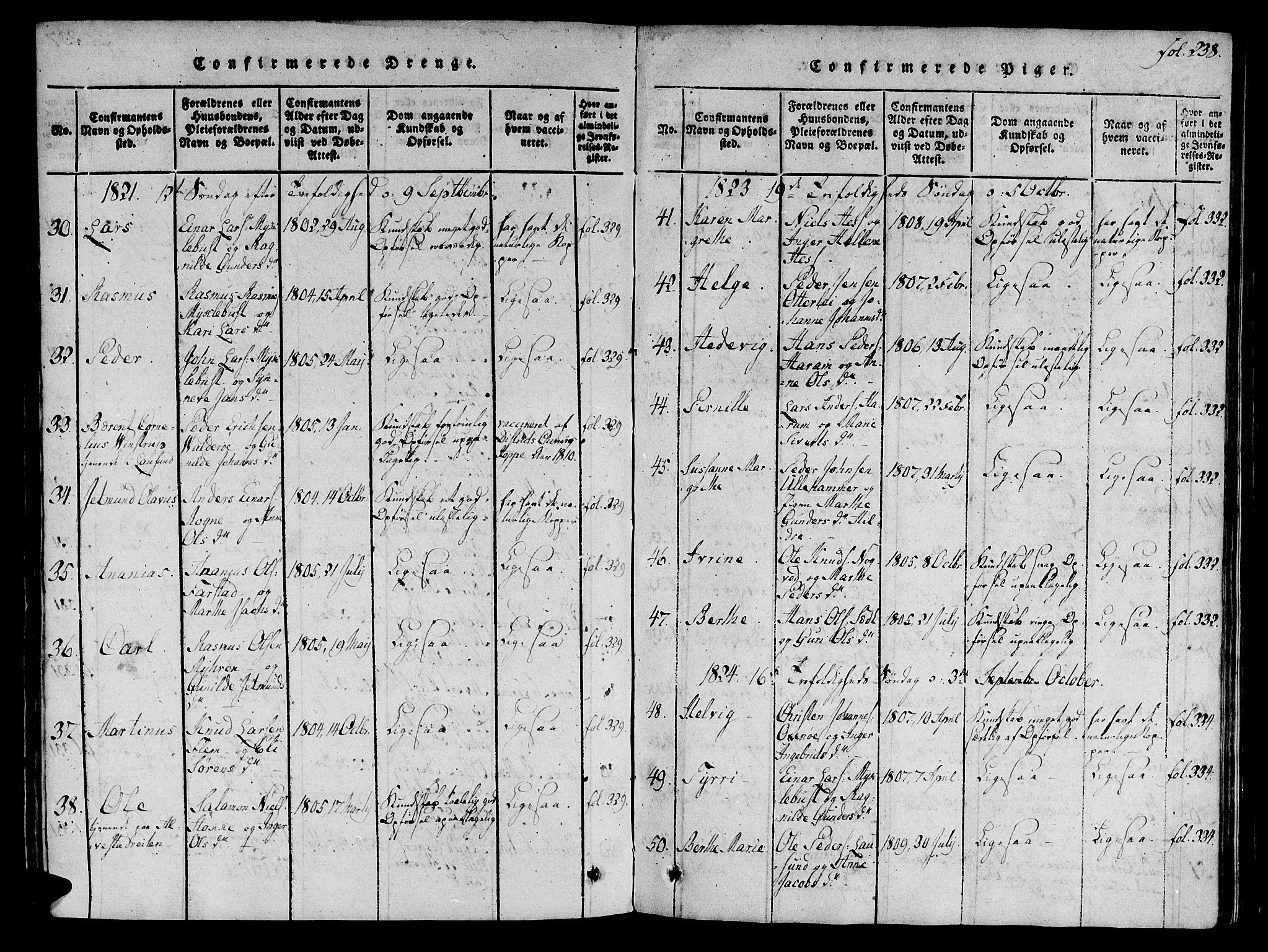 SAT, Ministerialprotokoller, klokkerbøker og fødselsregistre - Møre og Romsdal, 536/L0495: Ministerialbok nr. 536A04, 1818-1847, s. 238