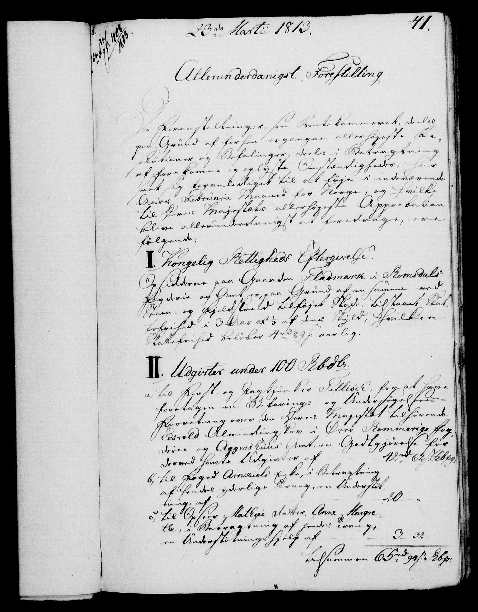 RA, Rentekammeret, Kammerkanselliet, G/Gf/Gfa/L0095: Norsk relasjons- og resolusjonsprotokoll (merket RK 52.95), 1813-1814, s. 163