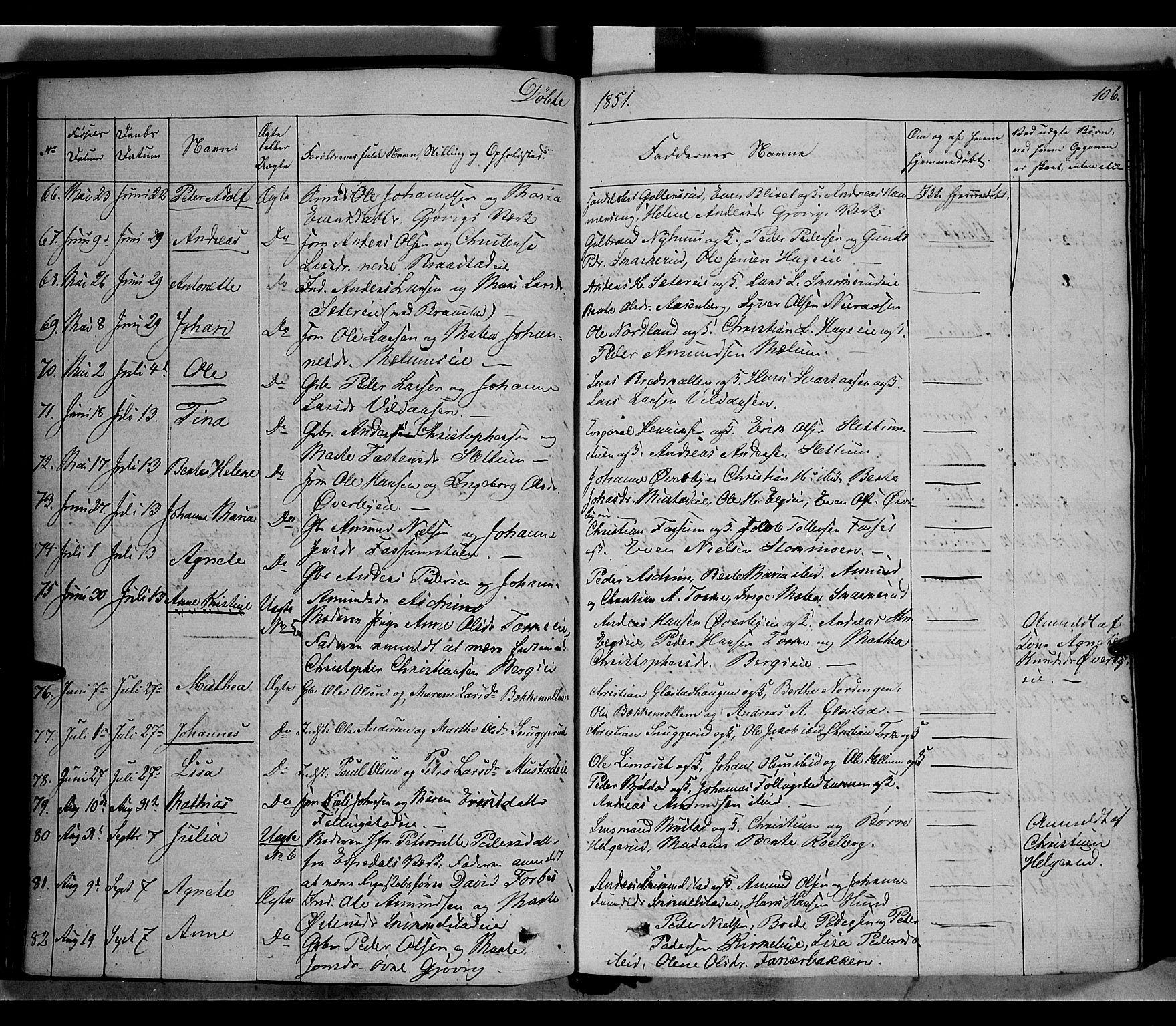 SAH, Vardal prestekontor, H/Ha/Haa/L0005: Ministerialbok nr. 5, 1831-1853, s. 106