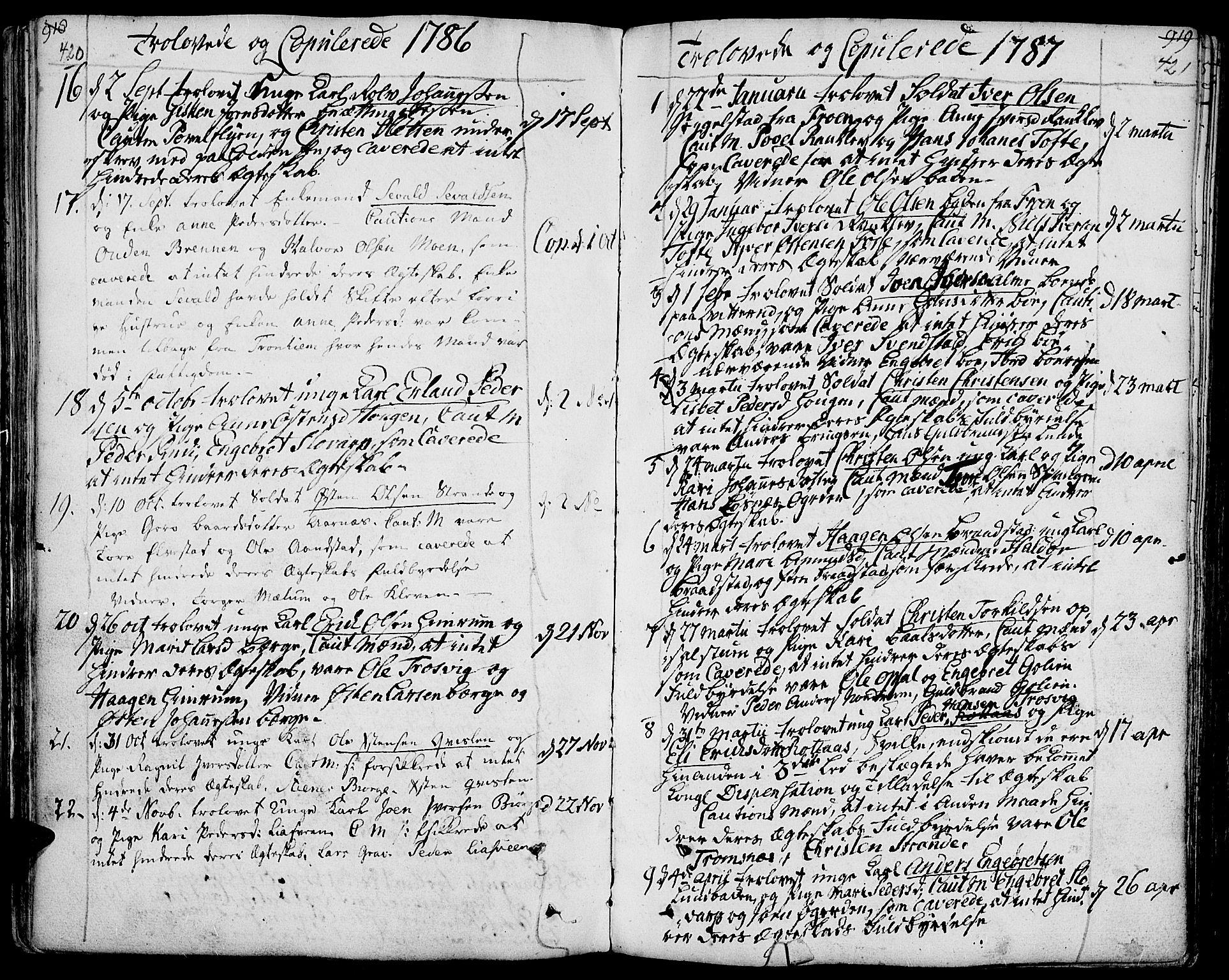 SAH, Ringebu prestekontor, Ministerialbok nr. 3, 1781-1820, s. 420-421