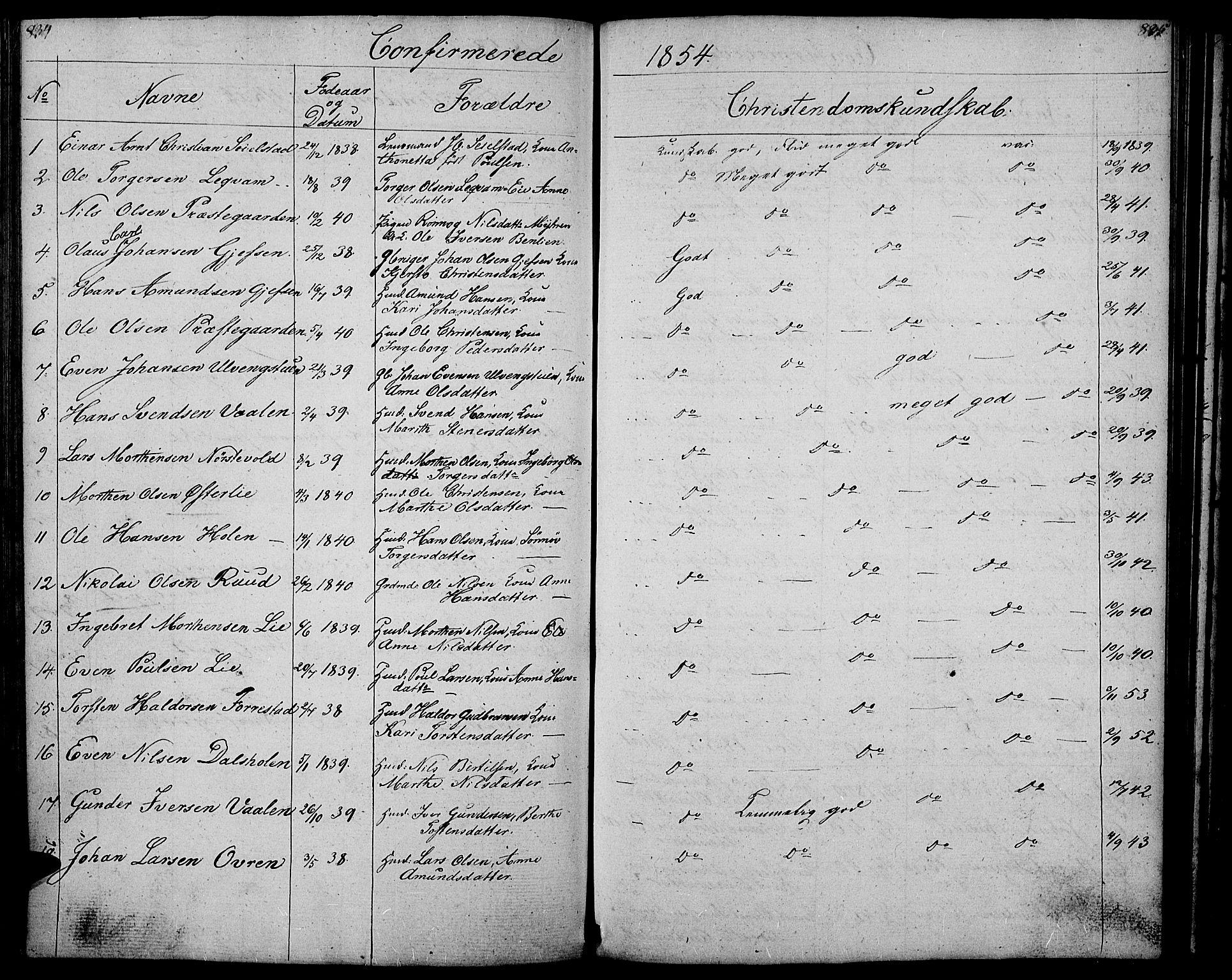 SAH, Gausdal prestekontor, Klokkerbok nr. 4, 1835-1870, s. 834-835