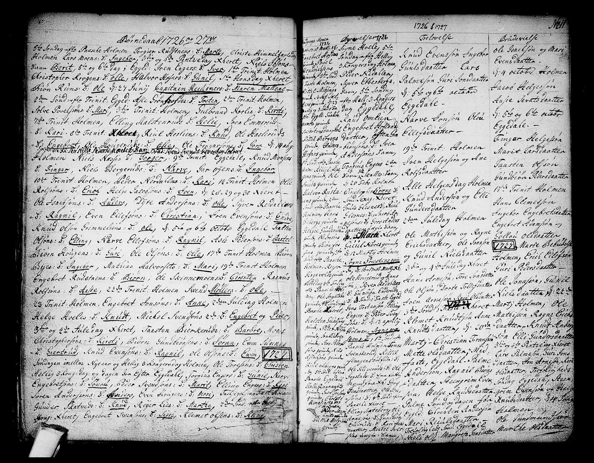 SAKO, Sigdal kirkebøker, F/Fa/L0001: Ministerialbok nr. I 1, 1722-1777, s. 11