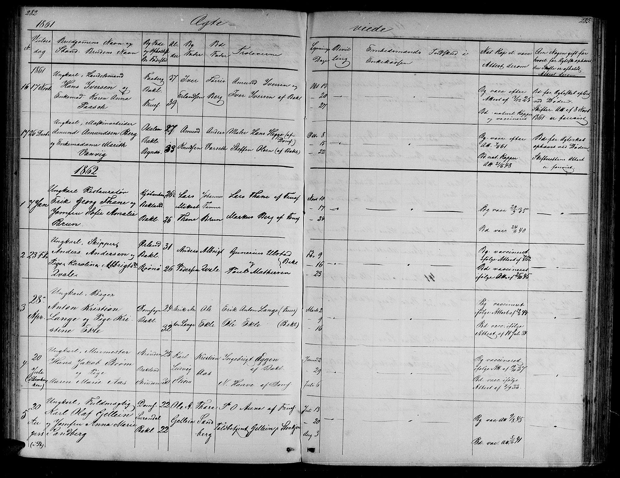 SAT, Ministerialprotokoller, klokkerbøker og fødselsregistre - Sør-Trøndelag, 604/L0219: Klokkerbok nr. 604C02, 1851-1869, s. 282-283