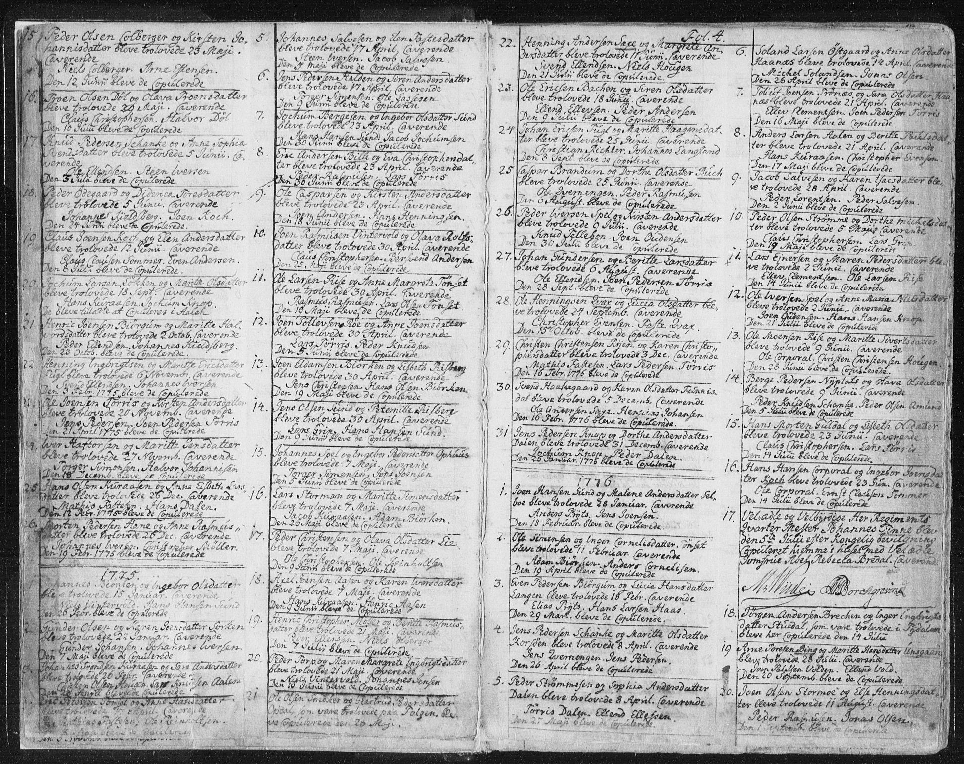 SAT, Ministerialprotokoller, klokkerbøker og fødselsregistre - Sør-Trøndelag, 681/L0926: Ministerialbok nr. 681A04, 1767-1797, s. 4
