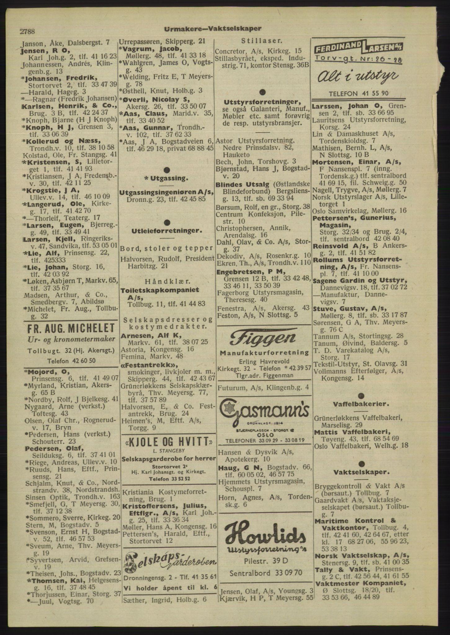 PUBL, Kristiania/Oslo adressebok, 1955, s. 2788