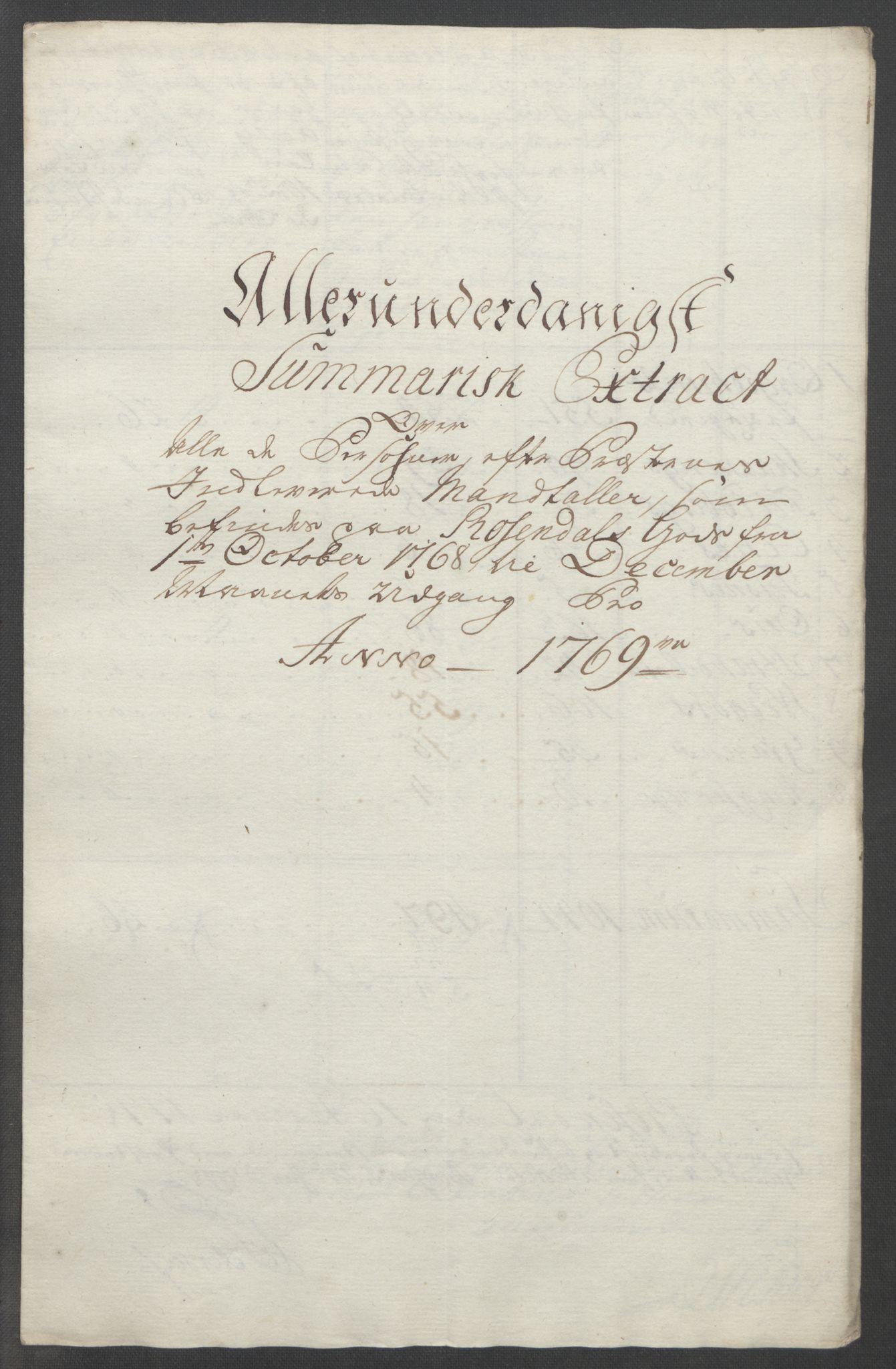 RA, Rentekammeret inntil 1814, Reviderte regnskaper, Fogderegnskap, R49/L3157: Ekstraskatten Rosendal Baroni, 1762-1772, s. 254