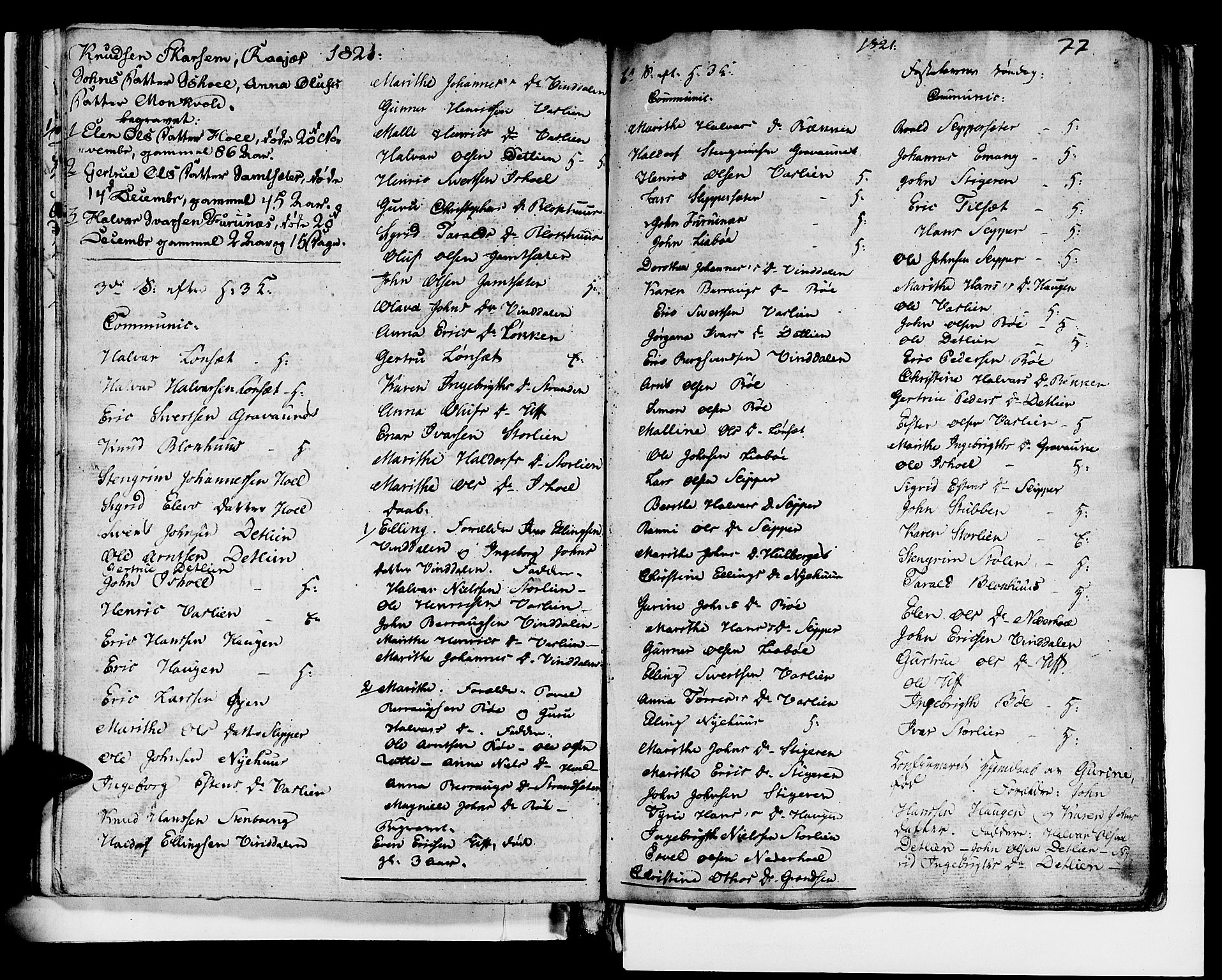 SAT, Ministerialprotokoller, klokkerbøker og fødselsregistre - Sør-Trøndelag, 679/L0921: Klokkerbok nr. 679C01, 1792-1840, s. 77
