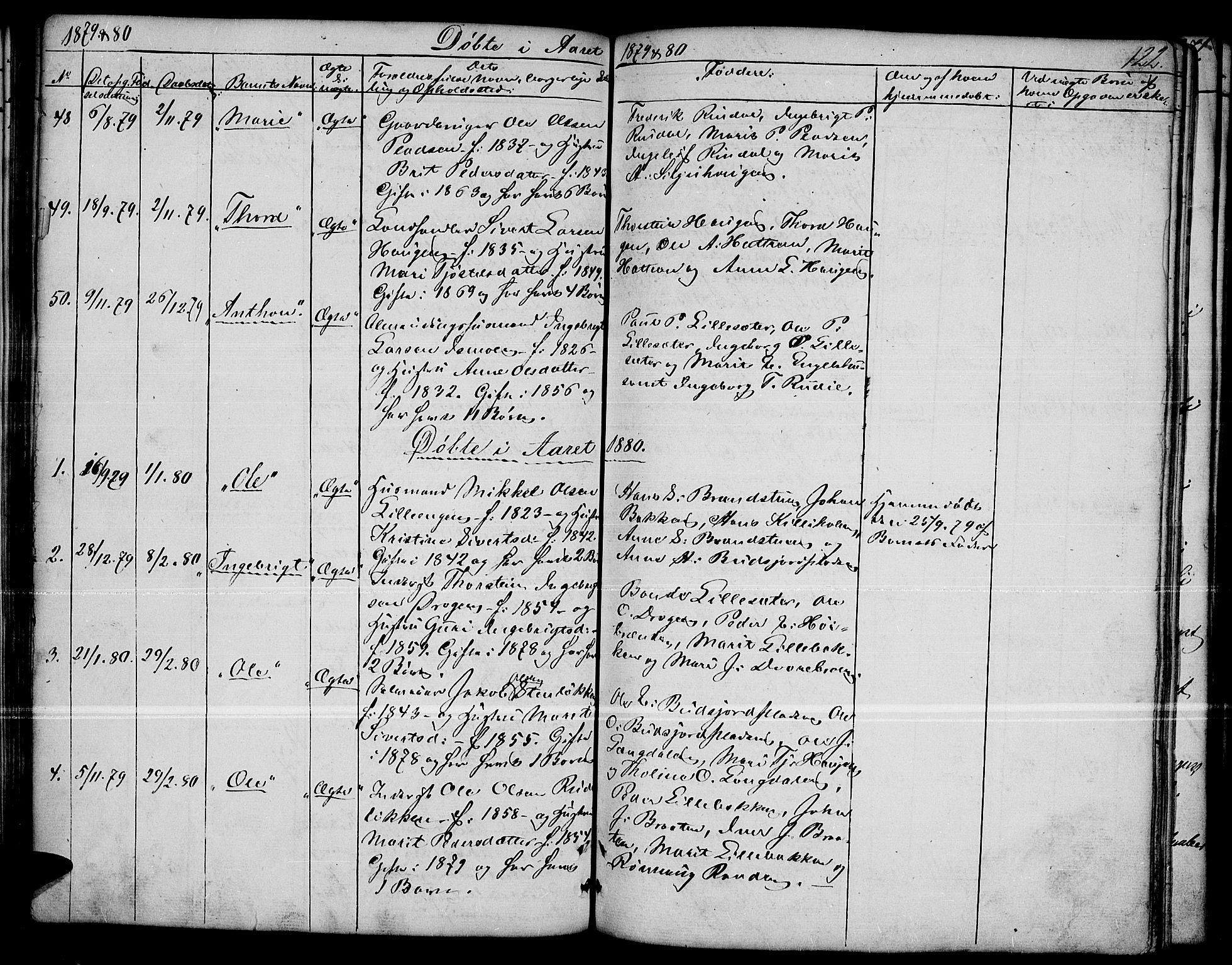 SAH, Dovre prestekontor, Klokkerbok nr. 1, 1862-1880, s. 122