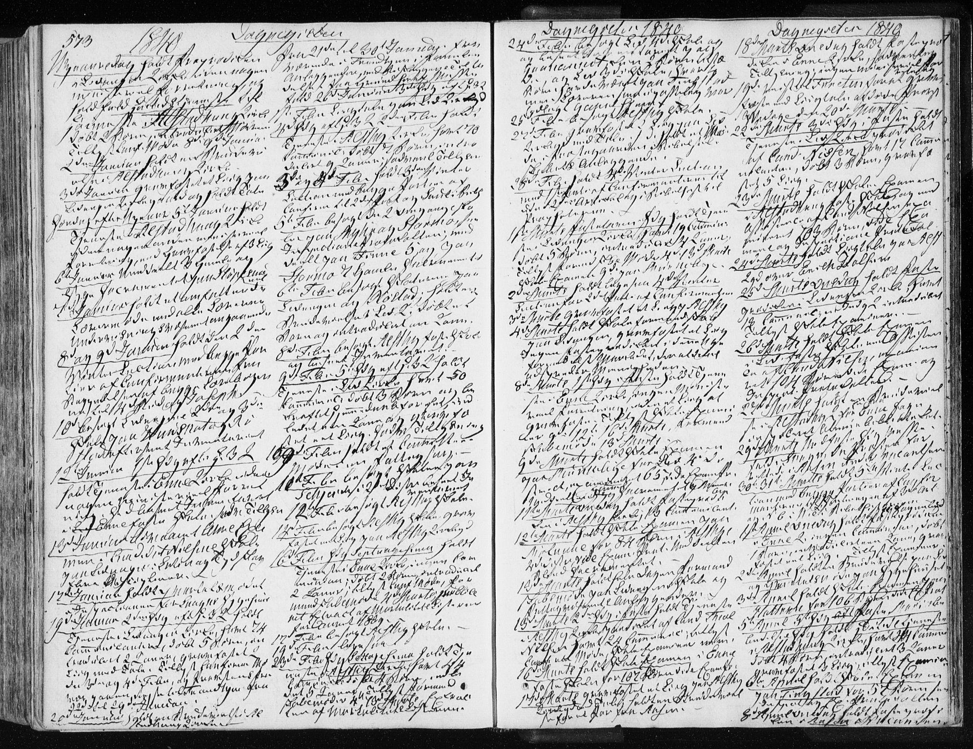 SAT, Ministerialprotokoller, klokkerbøker og fødselsregistre - Nord-Trøndelag, 717/L0154: Ministerialbok nr. 717A06 /1, 1836-1849, s. 573