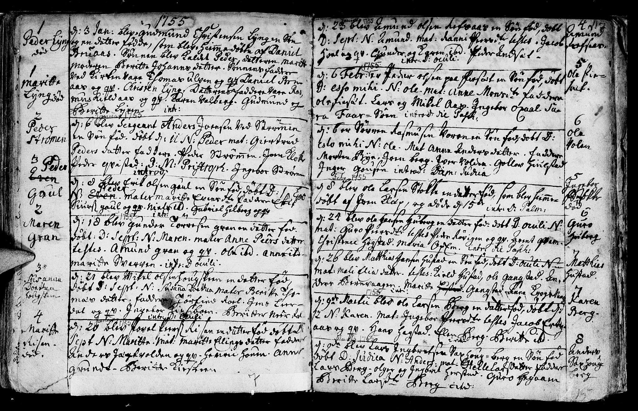 SAT, Ministerialprotokoller, klokkerbøker og fødselsregistre - Nord-Trøndelag, 730/L0272: Ministerialbok nr. 730A01, 1733-1764, s. 117
