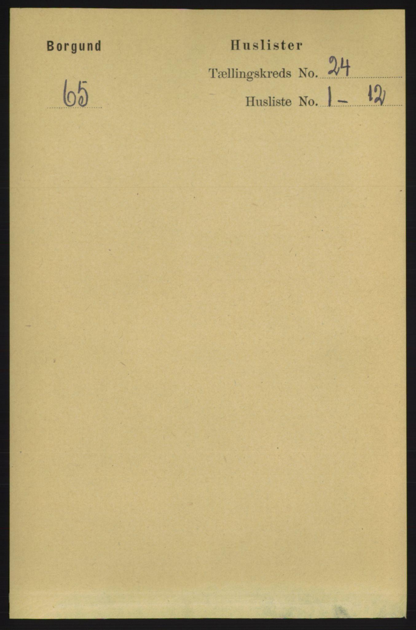 RA, Folketelling 1891 for 1531 Borgund herred, 1891, s. 7087