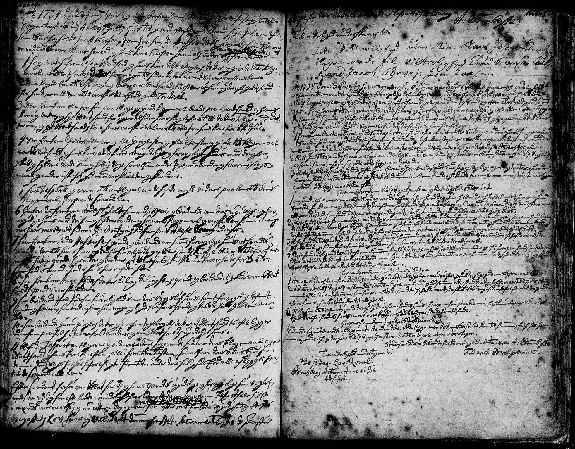 SAT, Ministerialprotokoller, klokkerbøker og fødselsregistre - Sør-Trøndelag, 606/L0275: Ministerialbok nr. 606A01 /1, 1727-1780, s. 604-605