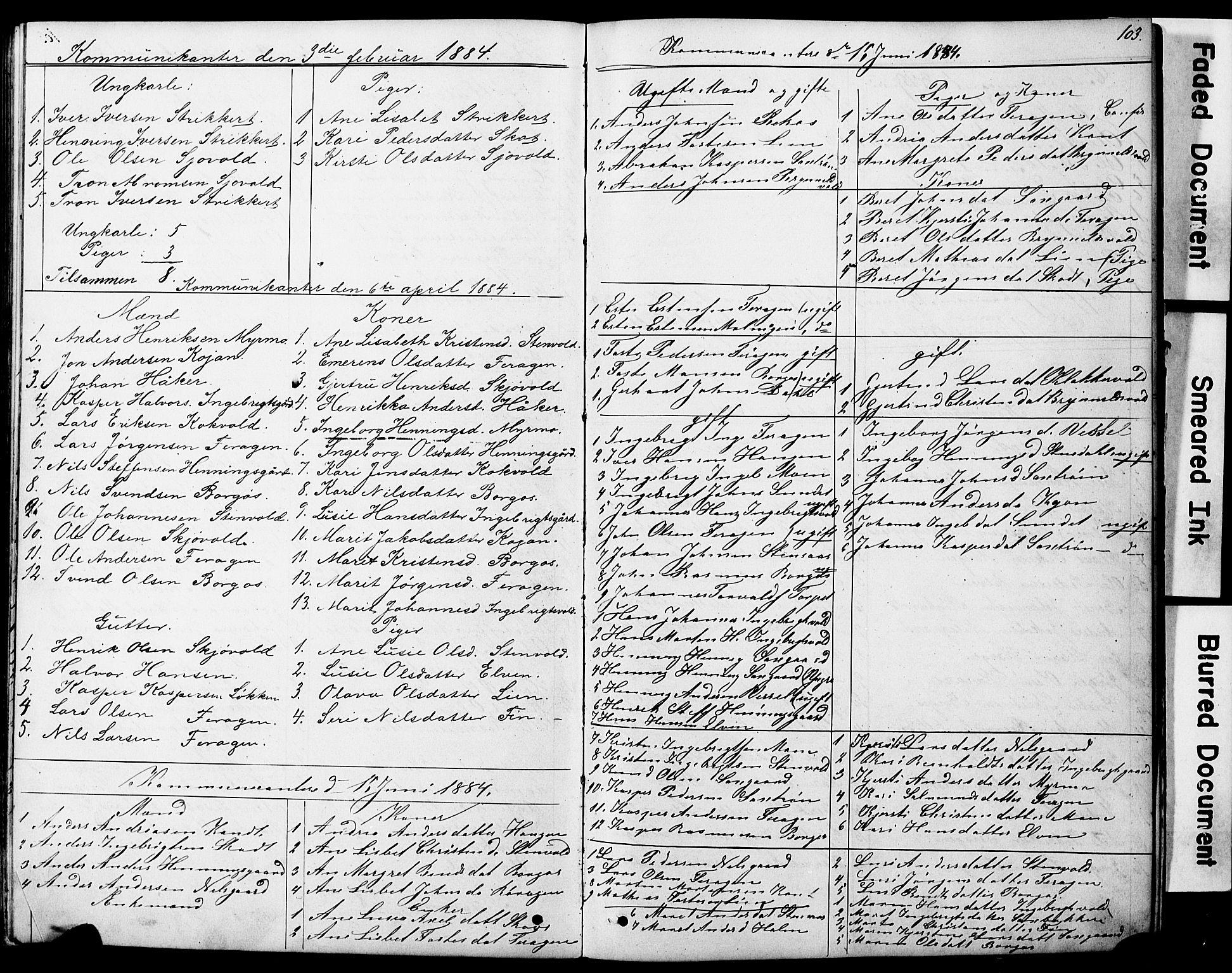 SAT, Ministerialprotokoller, klokkerbøker og fødselsregistre - Sør-Trøndelag, 683/L0949: Klokkerbok nr. 683C01, 1880-1896, s. 103