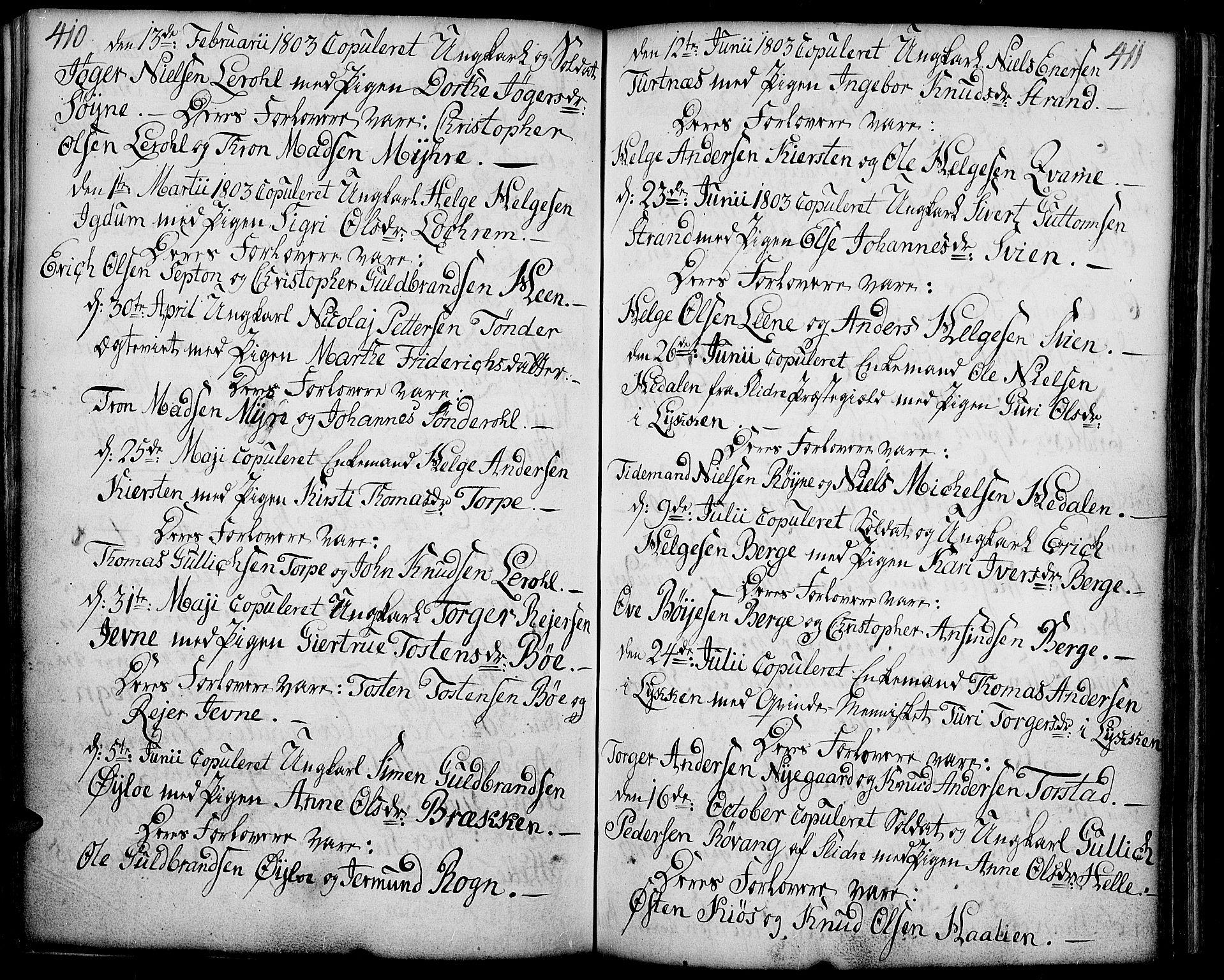 SAH, Vang prestekontor, Valdres, Ministerialbok nr. 2, 1796-1808, s. 410-411