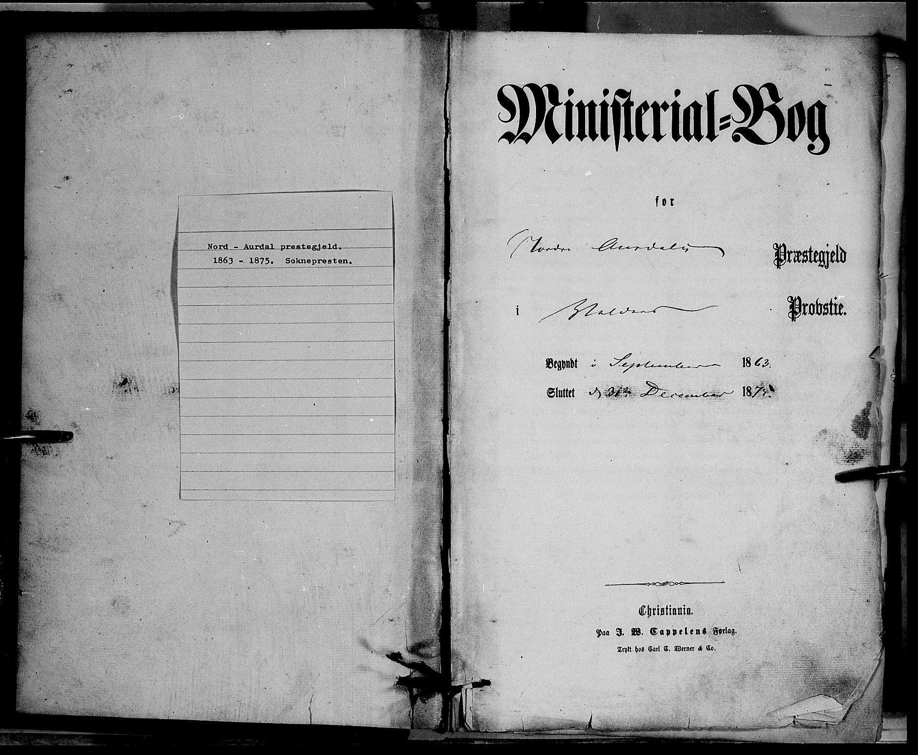 SAH, Nord-Aurdal prestekontor, Ministerialbok nr. 8, 1863-1875