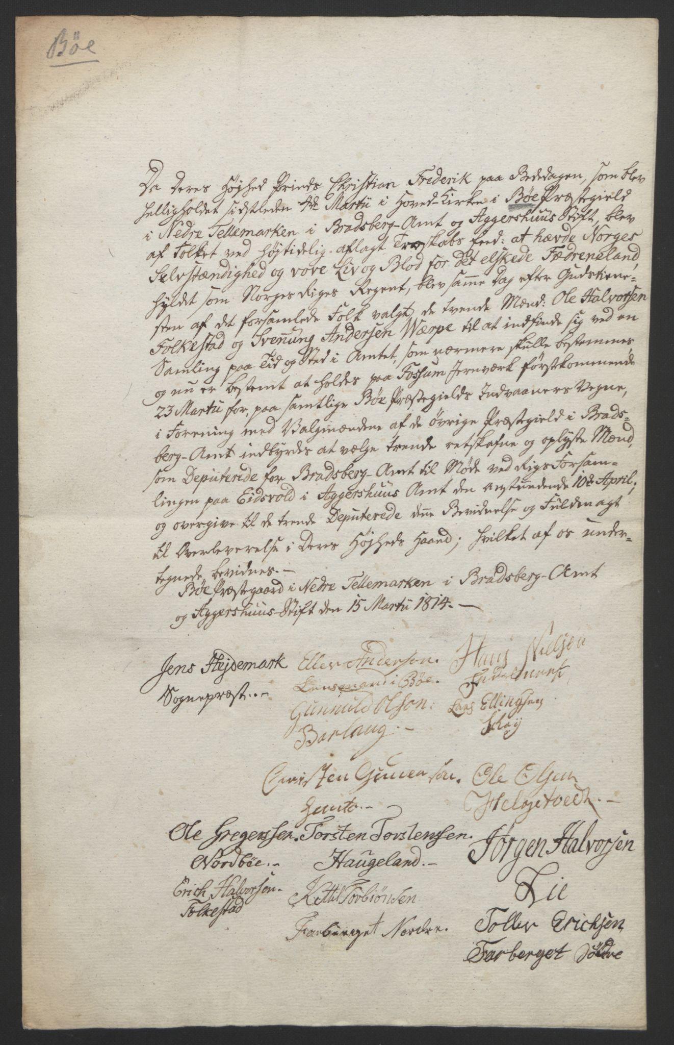 RA, Statsrådssekretariatet, D/Db/L0008: Fullmakter for Eidsvollsrepresentantene i 1814. , 1814, s. 41