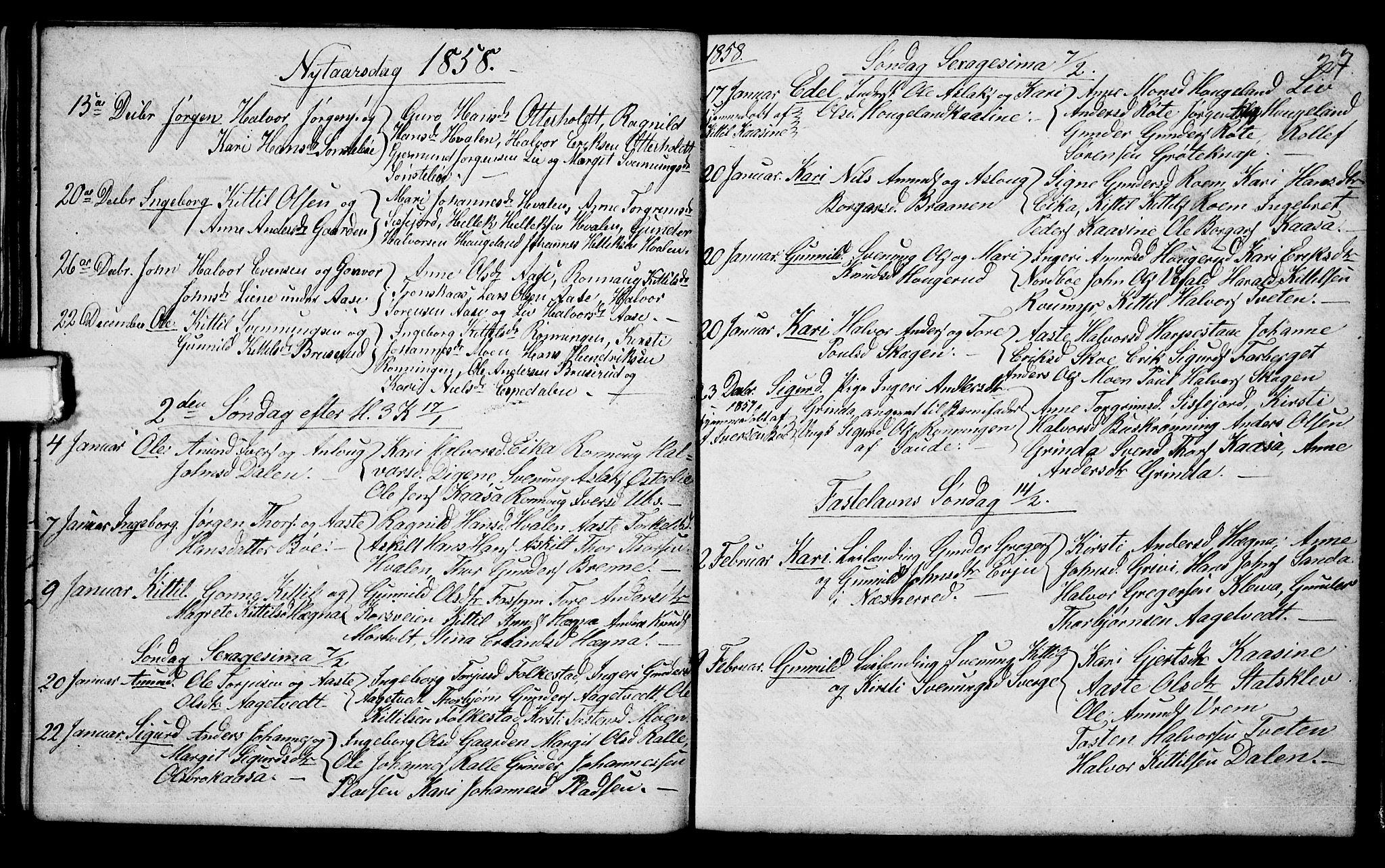 SAKO, Bø kirkebøker, G/Ga/L0002: Klokkerbok nr. 2, 1853-1866, s. 27