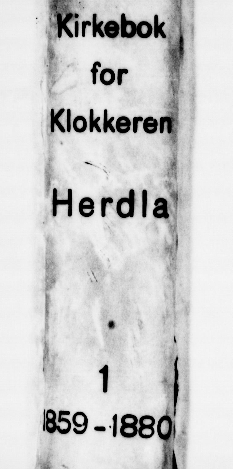 SAB, Herdla Sokneprestembete, H/Hab: Klokkerbok nr. A 1, 1859-1880