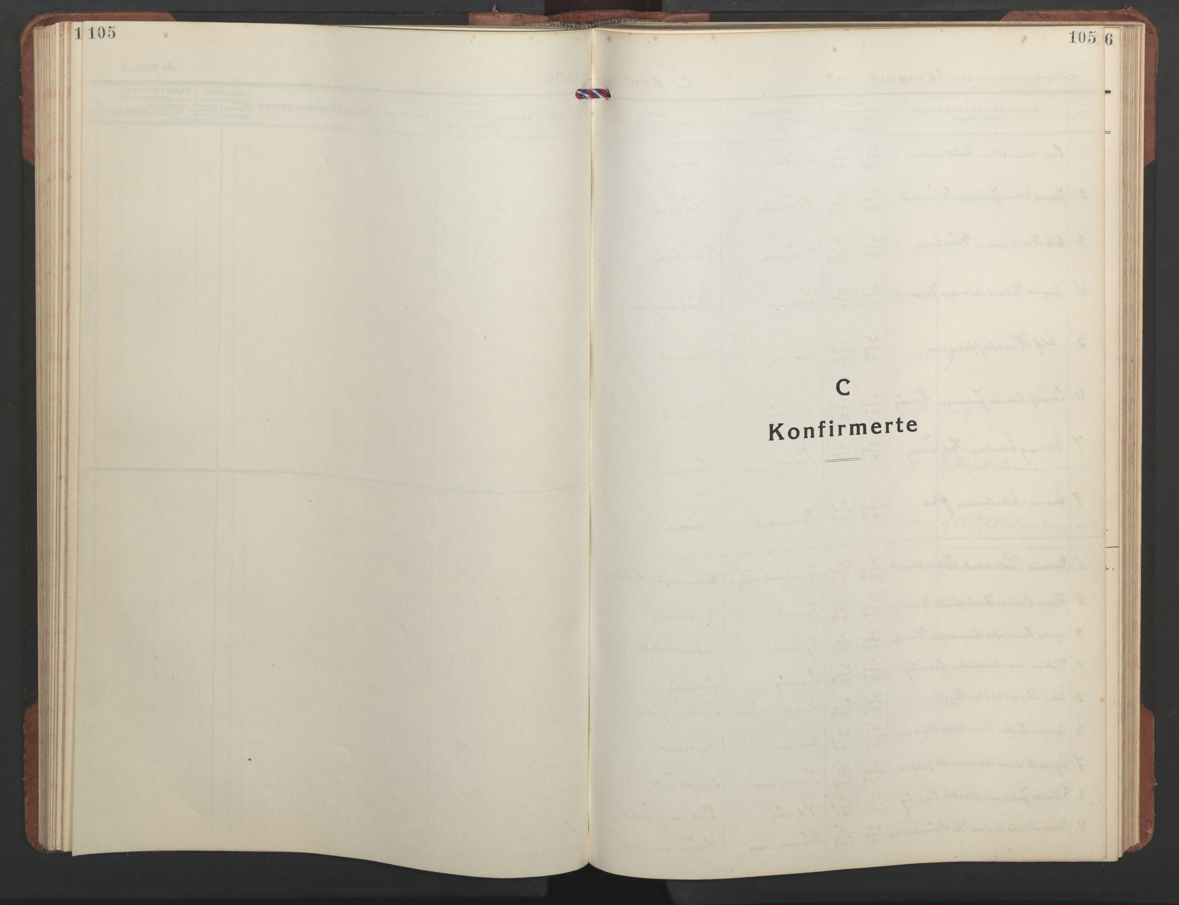 SAT, Ministerialprotokoller, klokkerbøker og fødselsregistre - Sør-Trøndelag, 637/L0564: Klokkerbok nr. 637C05, 1928-1968, s. 105