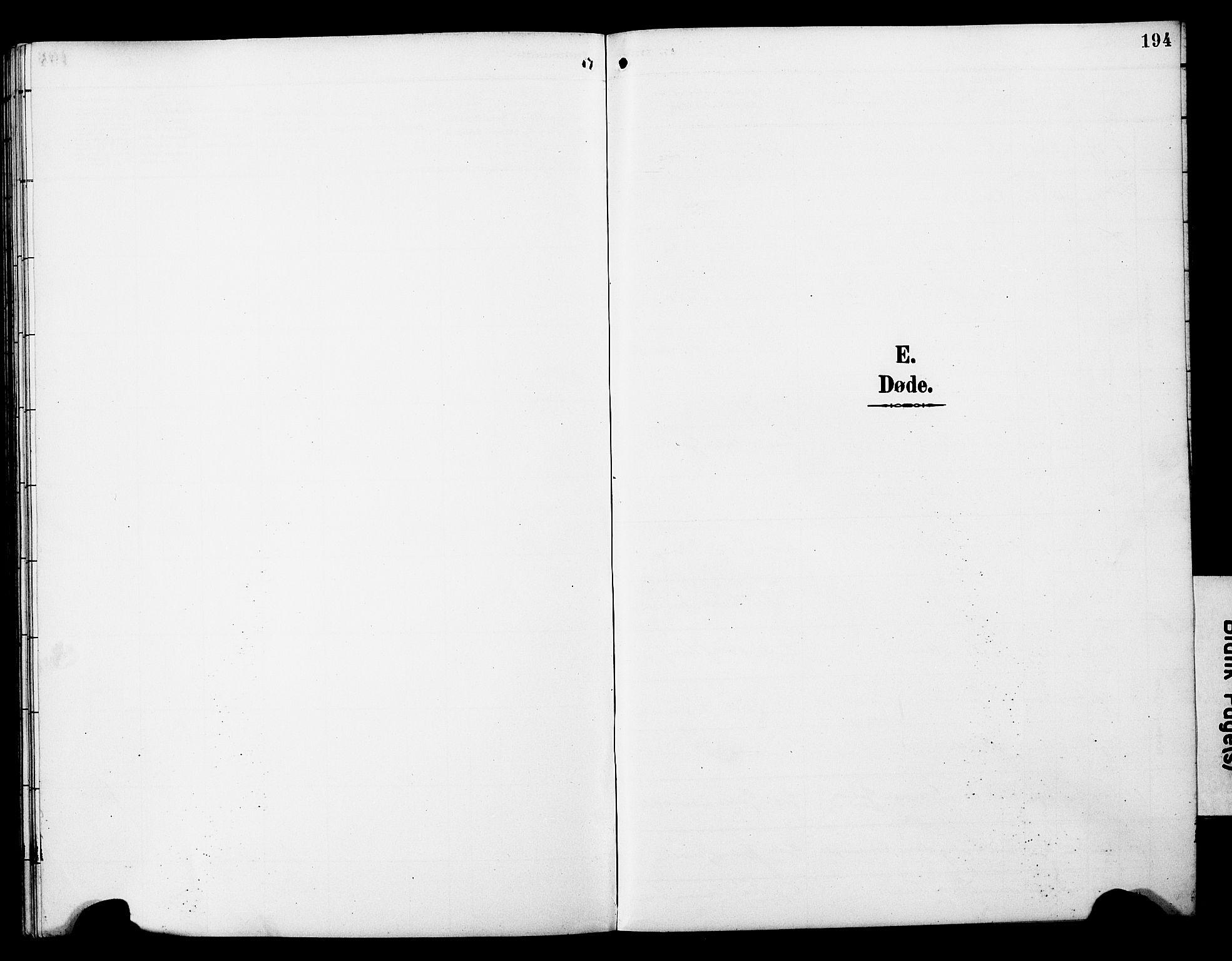 SAT, Ministerialprotokoller, klokkerbøker og fødselsregistre - Nord-Trøndelag, 788/L0701: Klokkerbok nr. 788C01, 1888-1913, s. 194