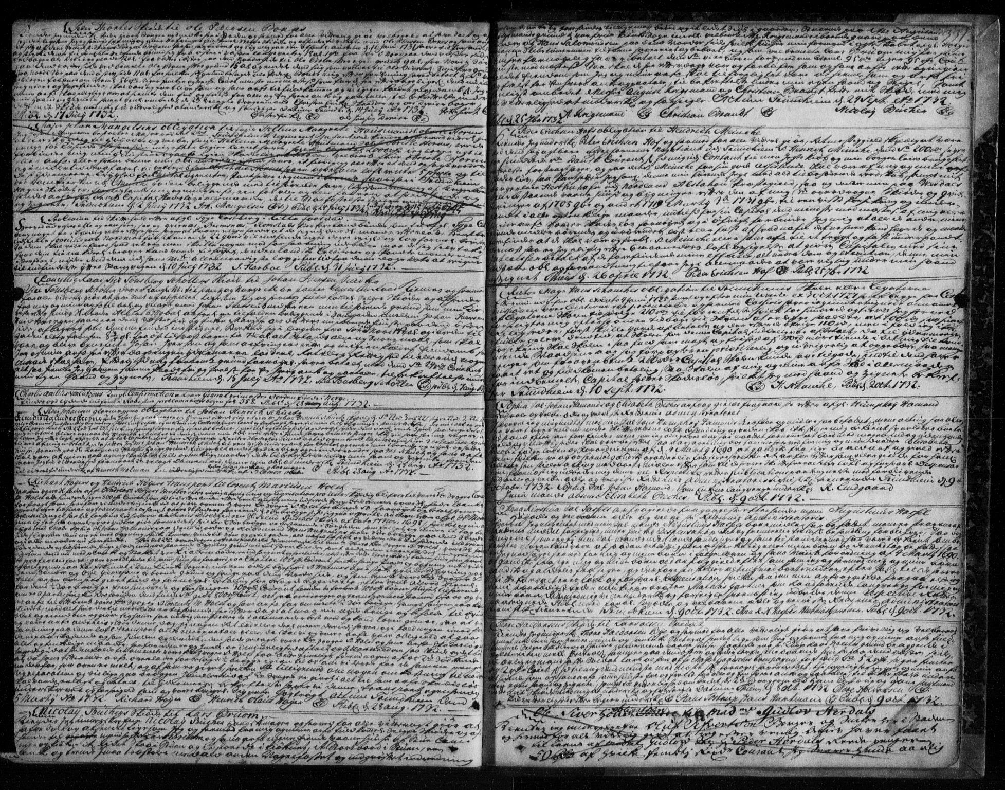 SAT, Trondheim byfogd, 2/2C/L0006: Pantebok nr. 4, 1720-1733, s. 331