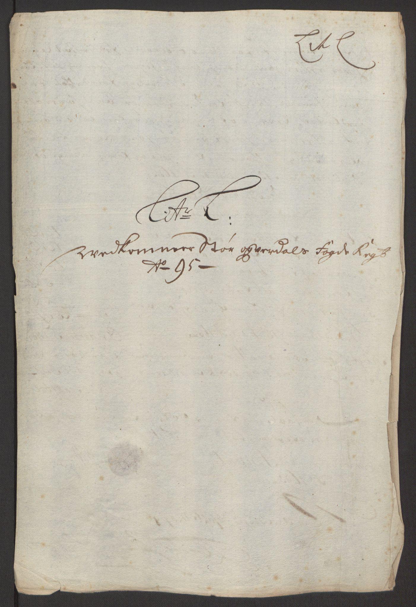 RA, Rentekammeret inntil 1814, Reviderte regnskaper, Fogderegnskap, R62/L4187: Fogderegnskap Stjørdal og Verdal, 1695, s. 137