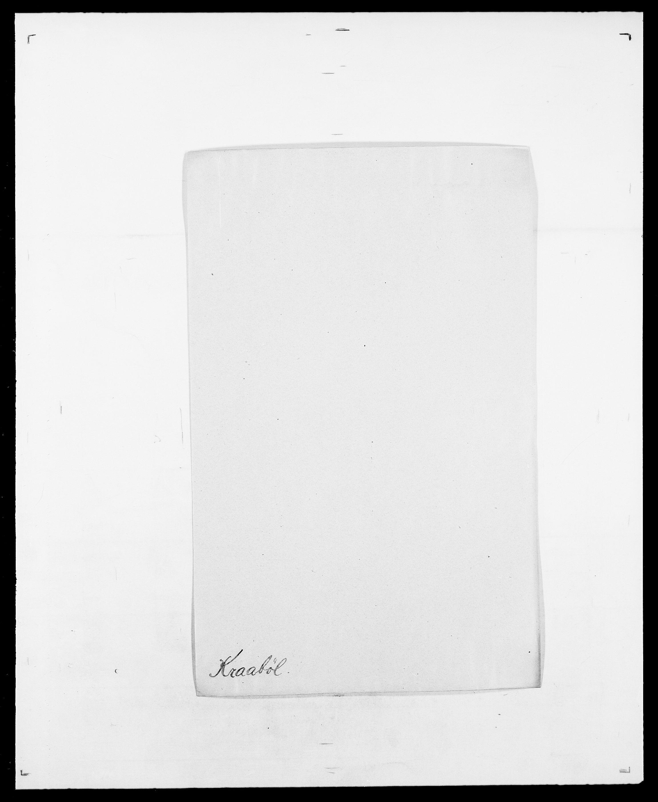 SAO, Delgobe, Charles Antoine - samling, D/Da/L0021: Klagenberg - Kristoft, s. 599