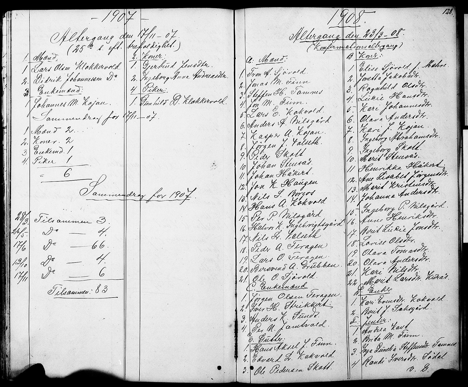 SAT, Ministerialprotokoller, klokkerbøker og fødselsregistre - Sør-Trøndelag, 683/L0949: Klokkerbok nr. 683C01, 1880-1896, s. 128