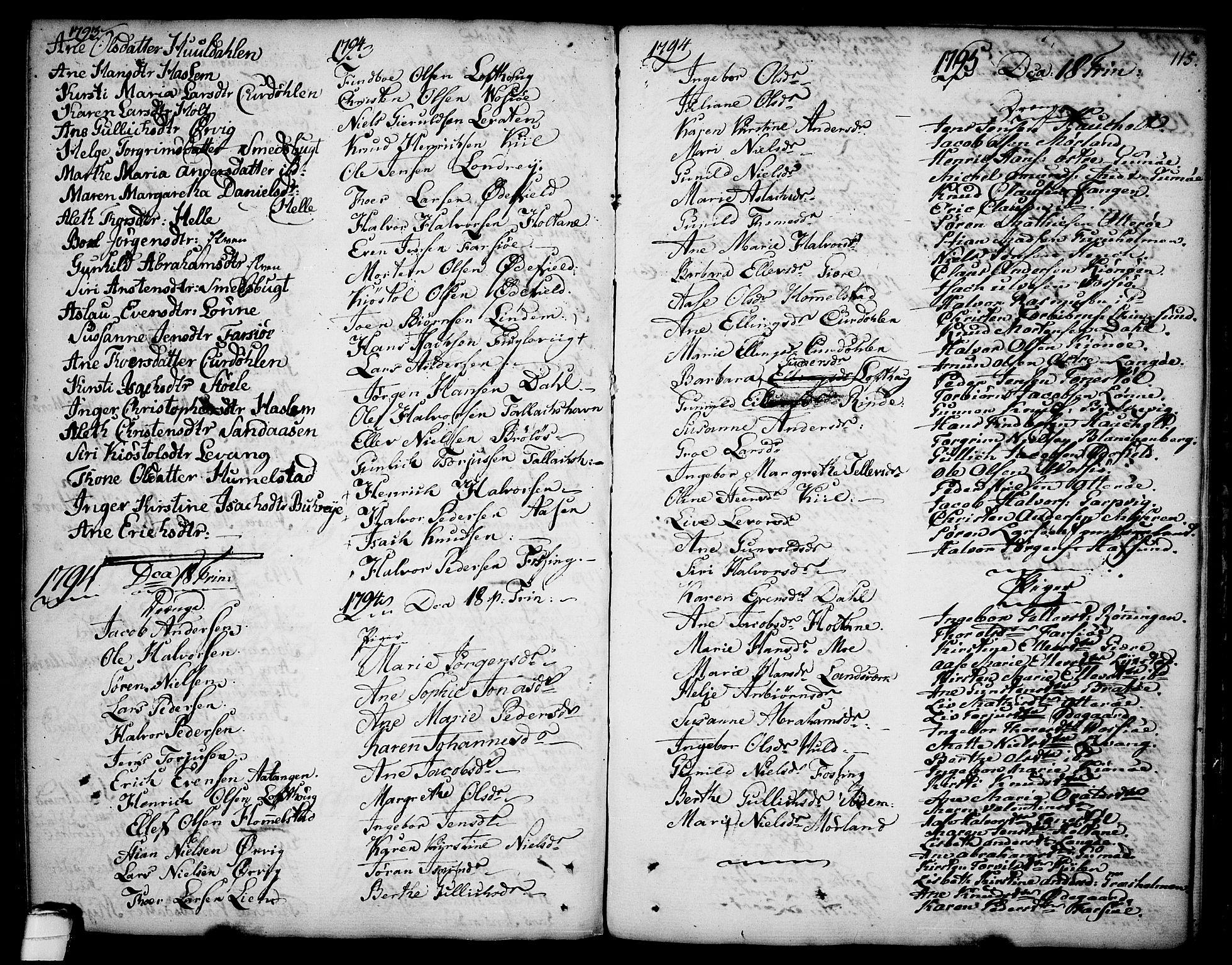 SAKO, Sannidal kirkebøker, F/Fa/L0002: Ministerialbok nr. 2, 1767-1802, s. 115