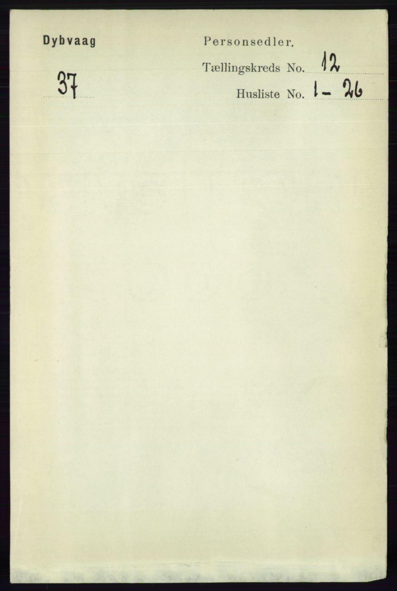 RA, Folketelling 1891 for 0915 Dypvåg herred, 1891, s. 4741