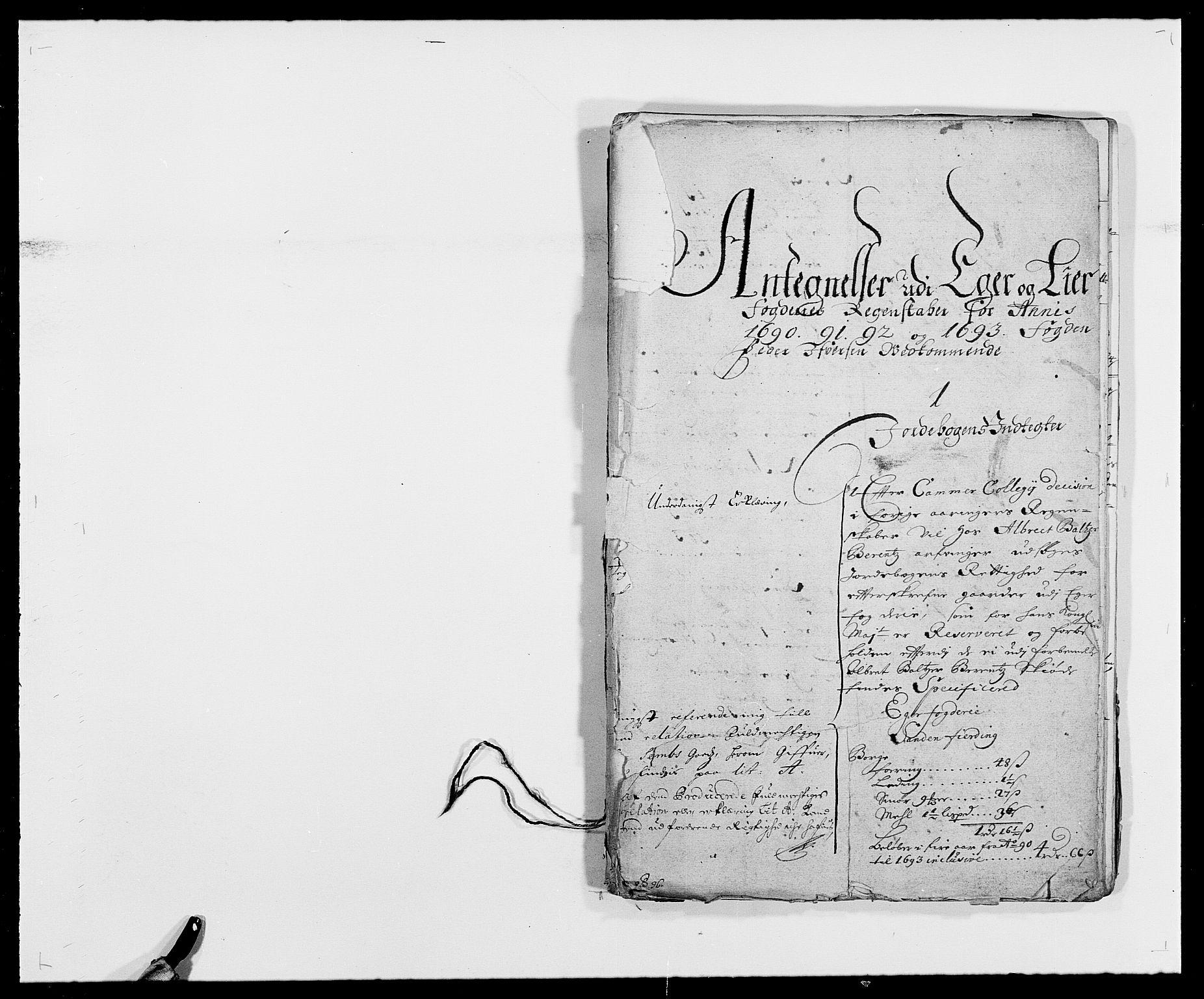 RA, Rentekammeret inntil 1814, Reviderte regnskaper, Fogderegnskap, R28/L1690: Fogderegnskap Eiker og Lier, 1692-1693, s. 246