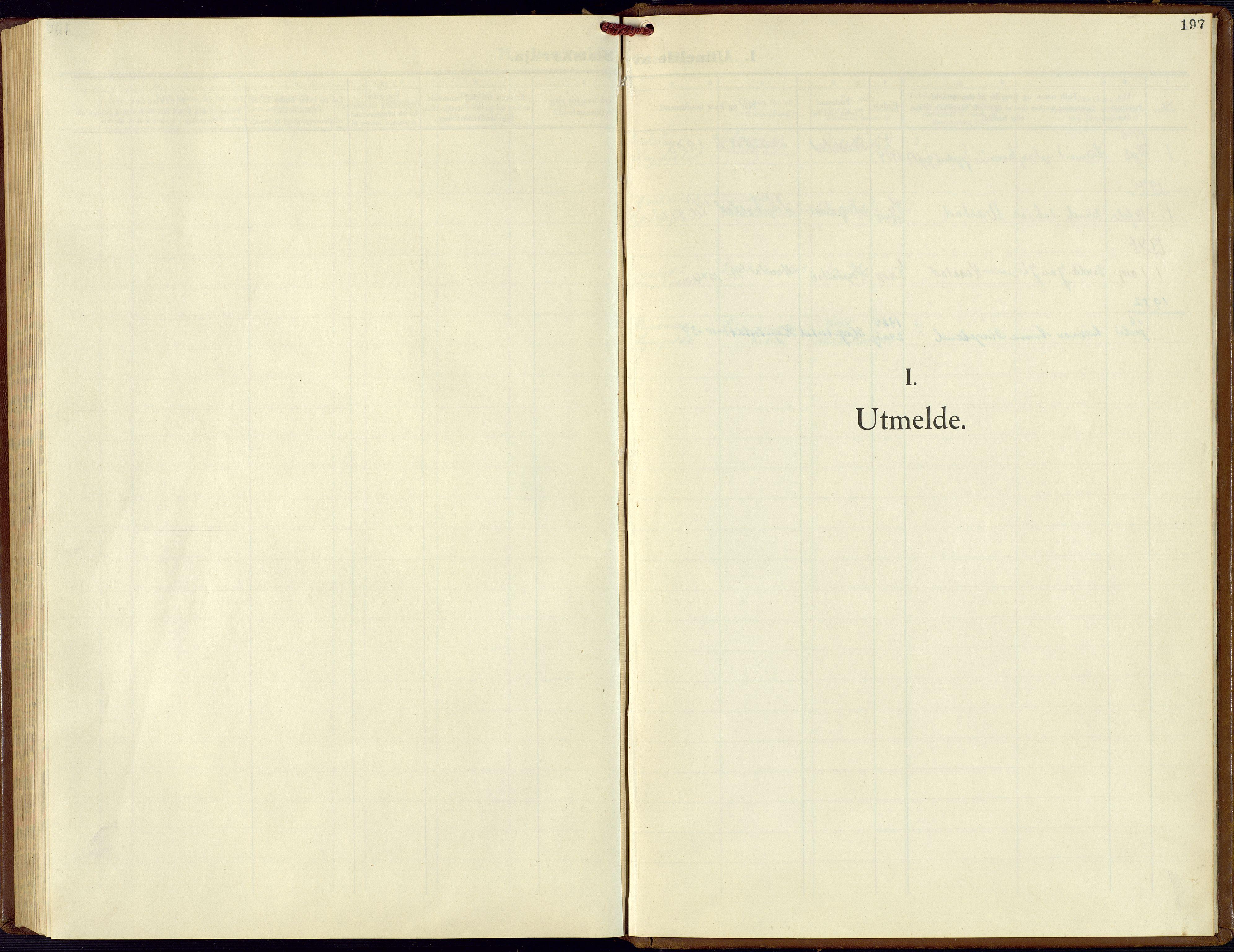 SAK, Hægebostad sokneprestkontor, F/Fb/Fba/L0006: Klokkerbok nr. B 6, 1931-1970, s. 197