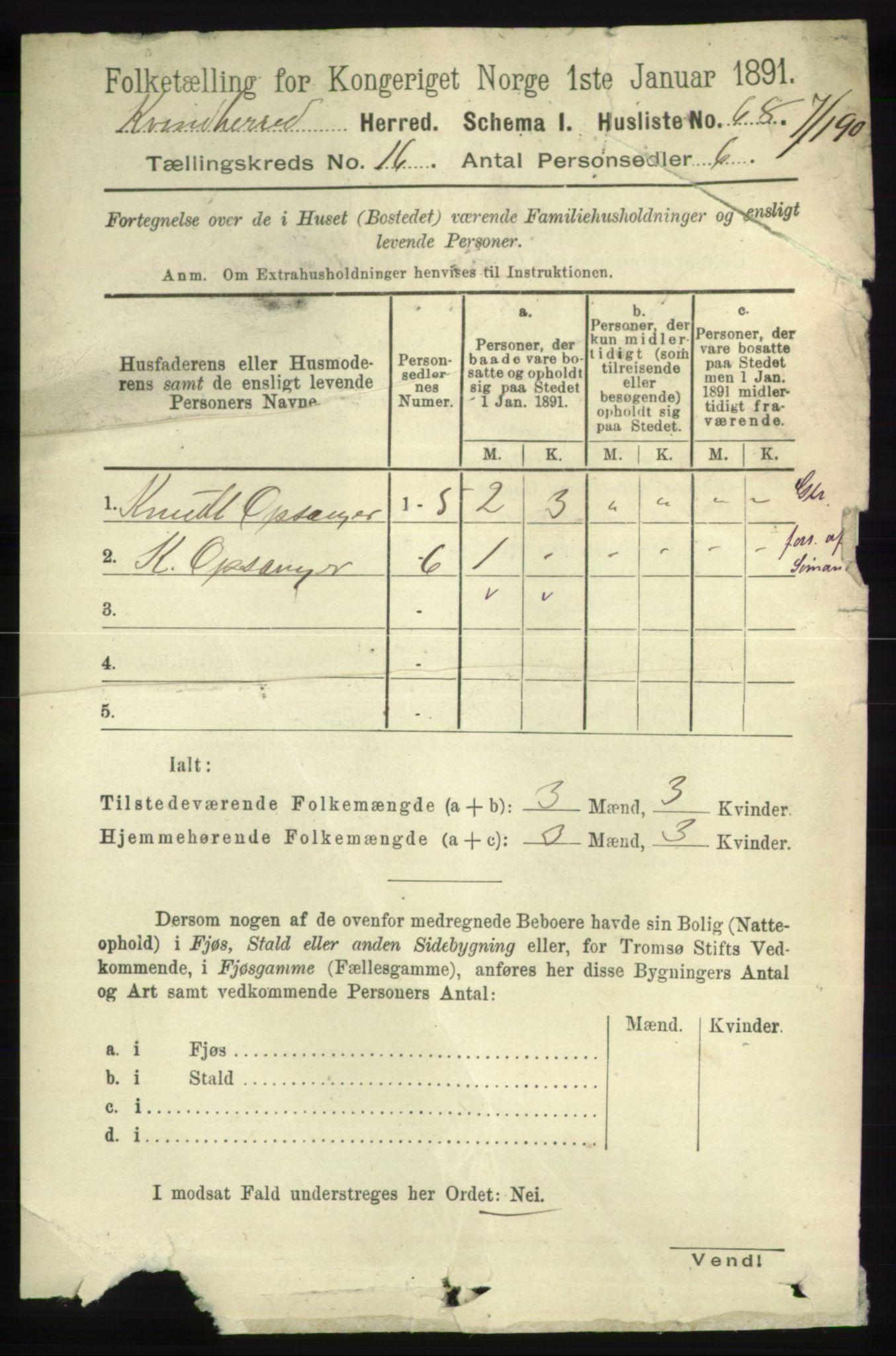 RA, Folketelling 1891 for 1224 Kvinnherad herred, 1891, s. 5441