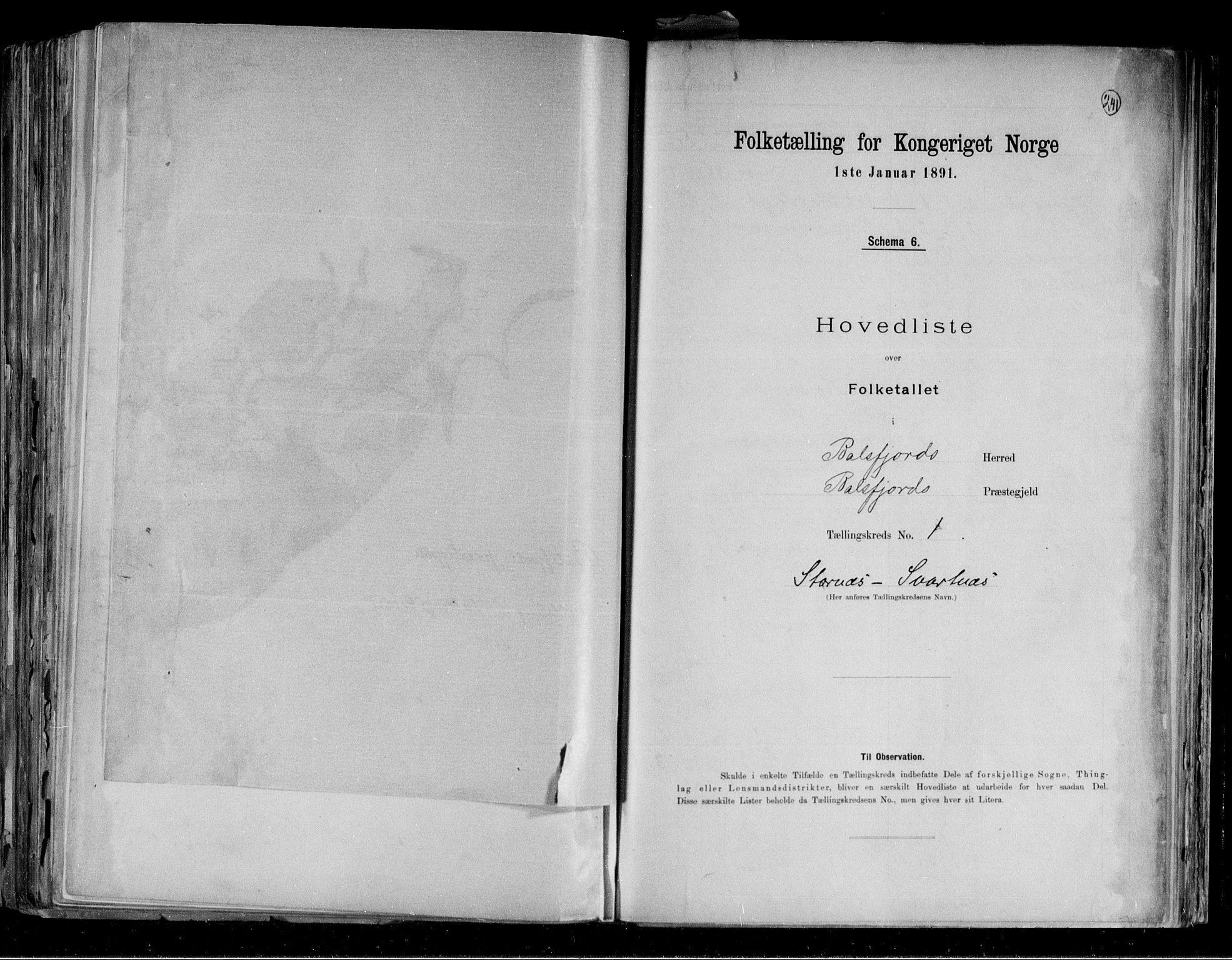 RA, Folketelling 1891 for 1933 Balsfjord herred, 1891, s. 5