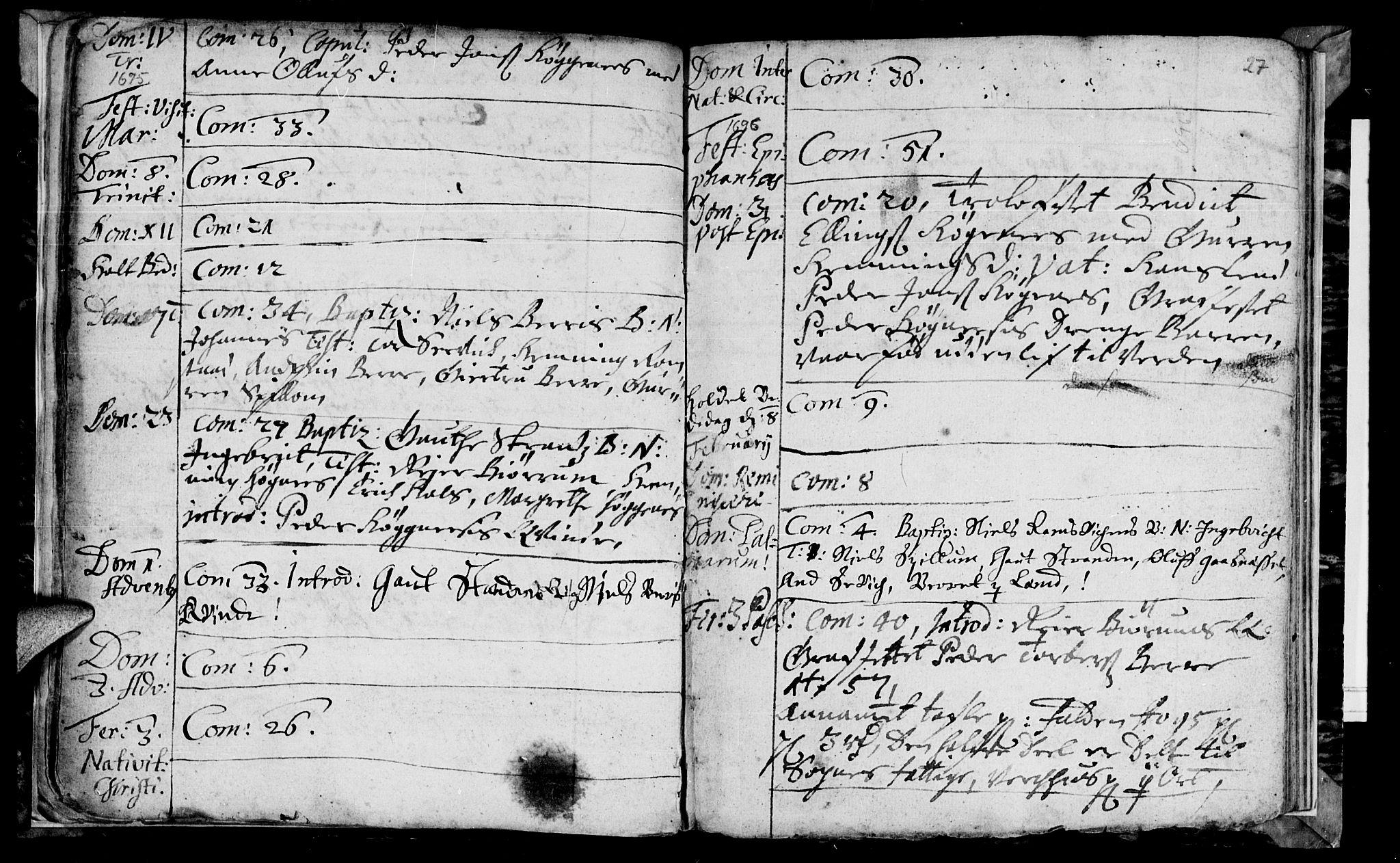 SAT, Ministerialprotokoller, klokkerbøker og fødselsregistre - Nord-Trøndelag, 770/L0587: Ministerialbok nr. 770A01, 1689-1697, s. 26-27