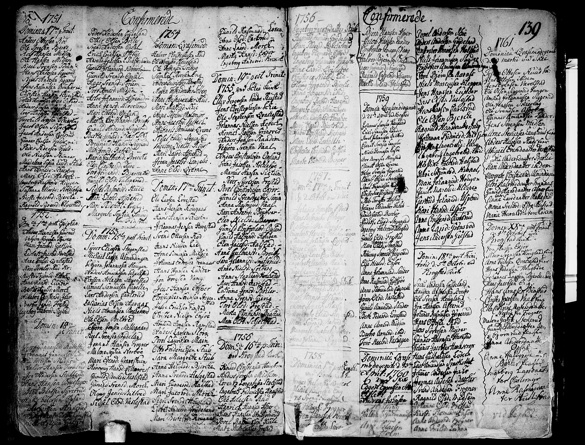 SAO, Kråkstad prestekontor Kirkebøker, F/Fa/L0001: Ministerialbok nr. I 1, 1736-1785, s. 139