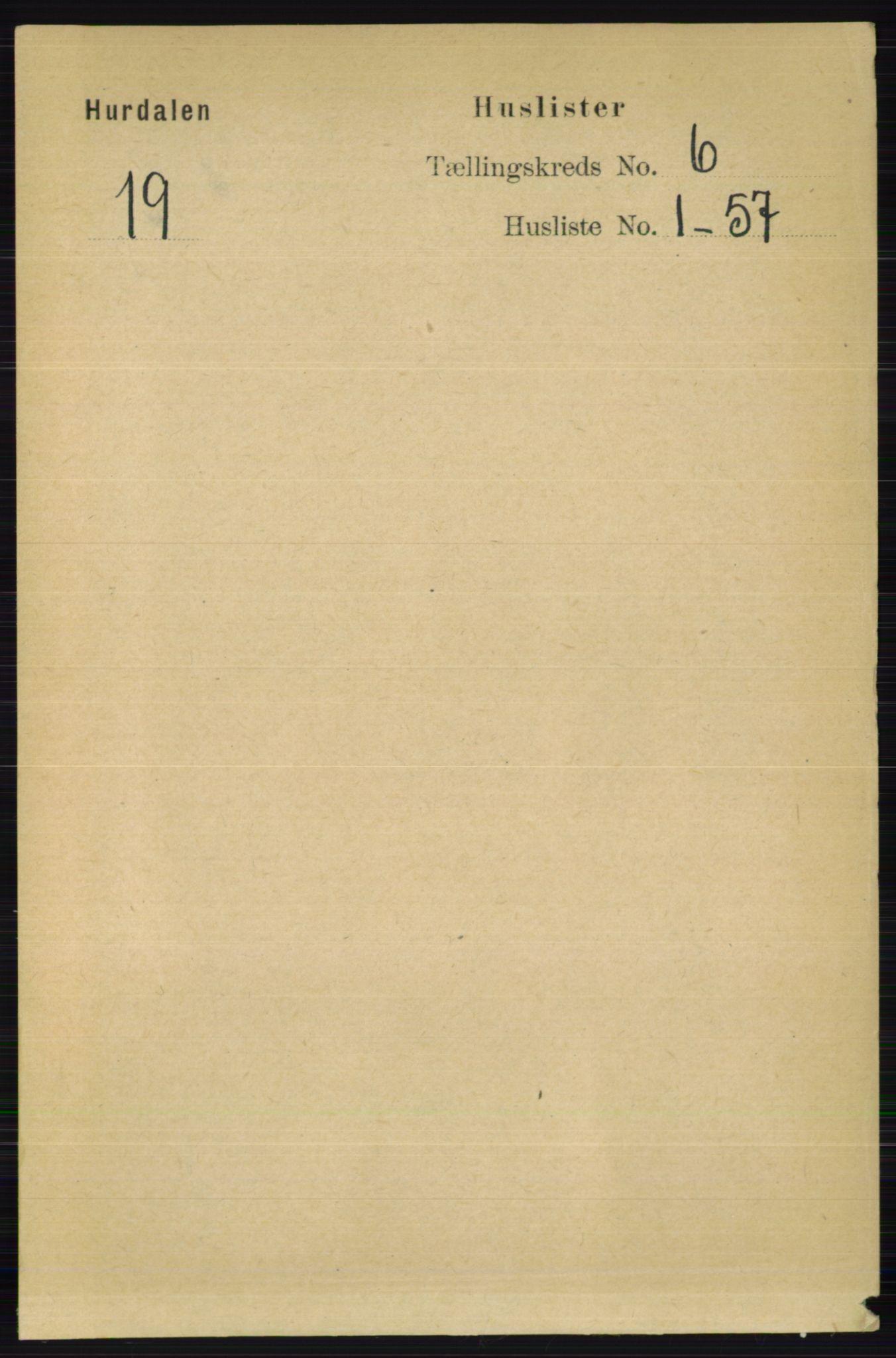 RA, Folketelling 1891 for 0239 Hurdal herred, 1891, s. 2130