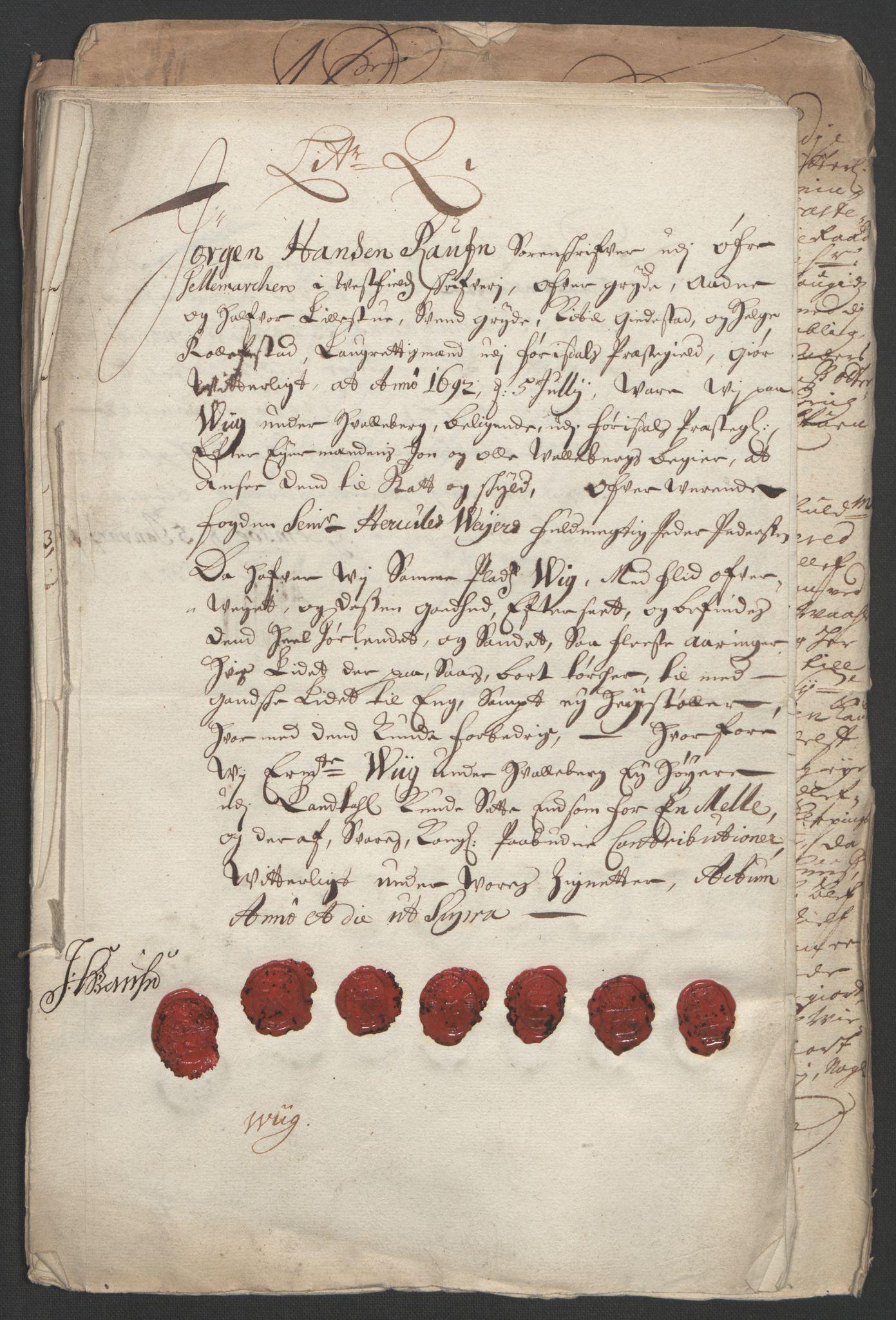 RA, Rentekammeret inntil 1814, Reviderte regnskaper, Fogderegnskap, R35/L2090: Fogderegnskap Øvre og Nedre Telemark, 1692, s. 17