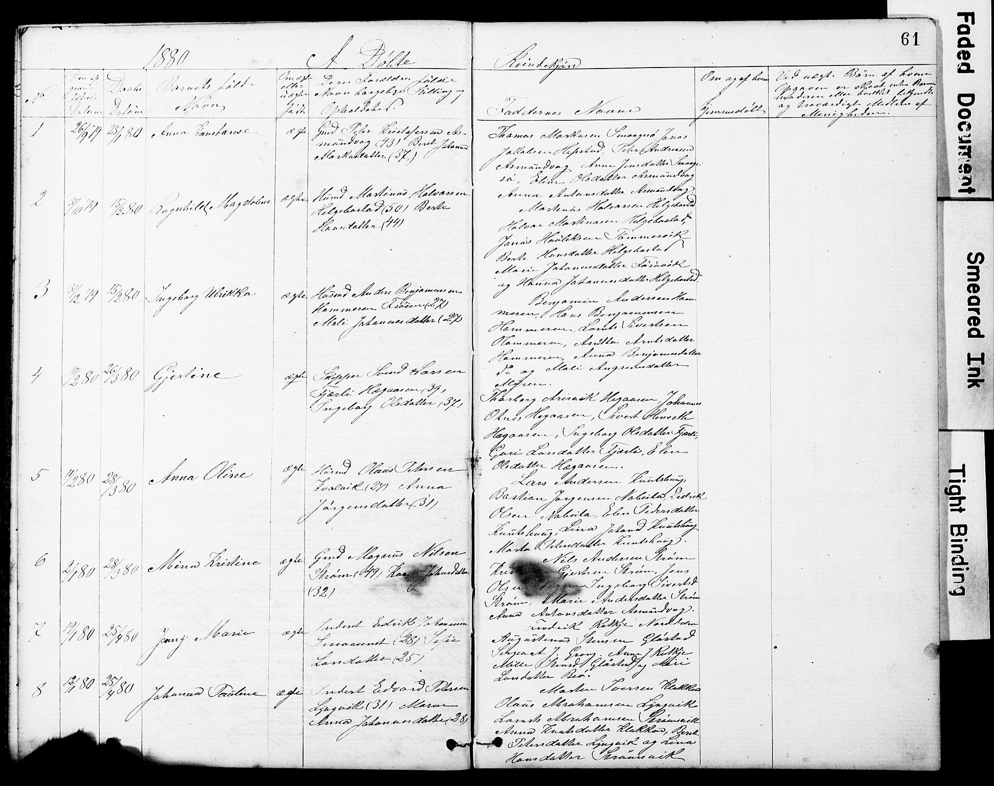 SAT, Ministerialprotokoller, klokkerbøker og fødselsregistre - Sør-Trøndelag, 634/L0541: Klokkerbok nr. 634C03, 1874-1891, s. 61