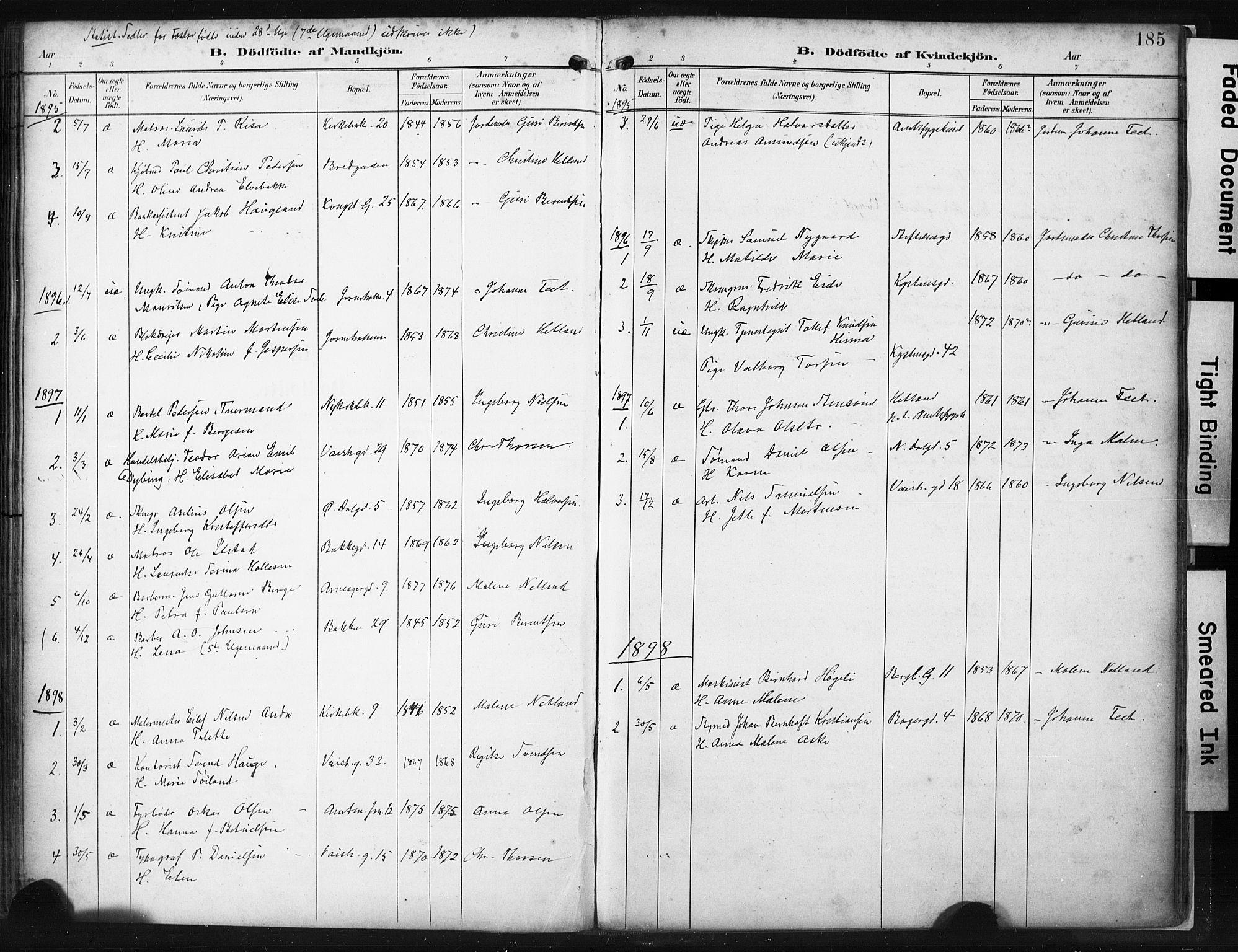 SAST, St. Petri sokneprestkontor, 30/30BA/L0022: Ministerialbok nr. A 22, 1895-1919, s. 185