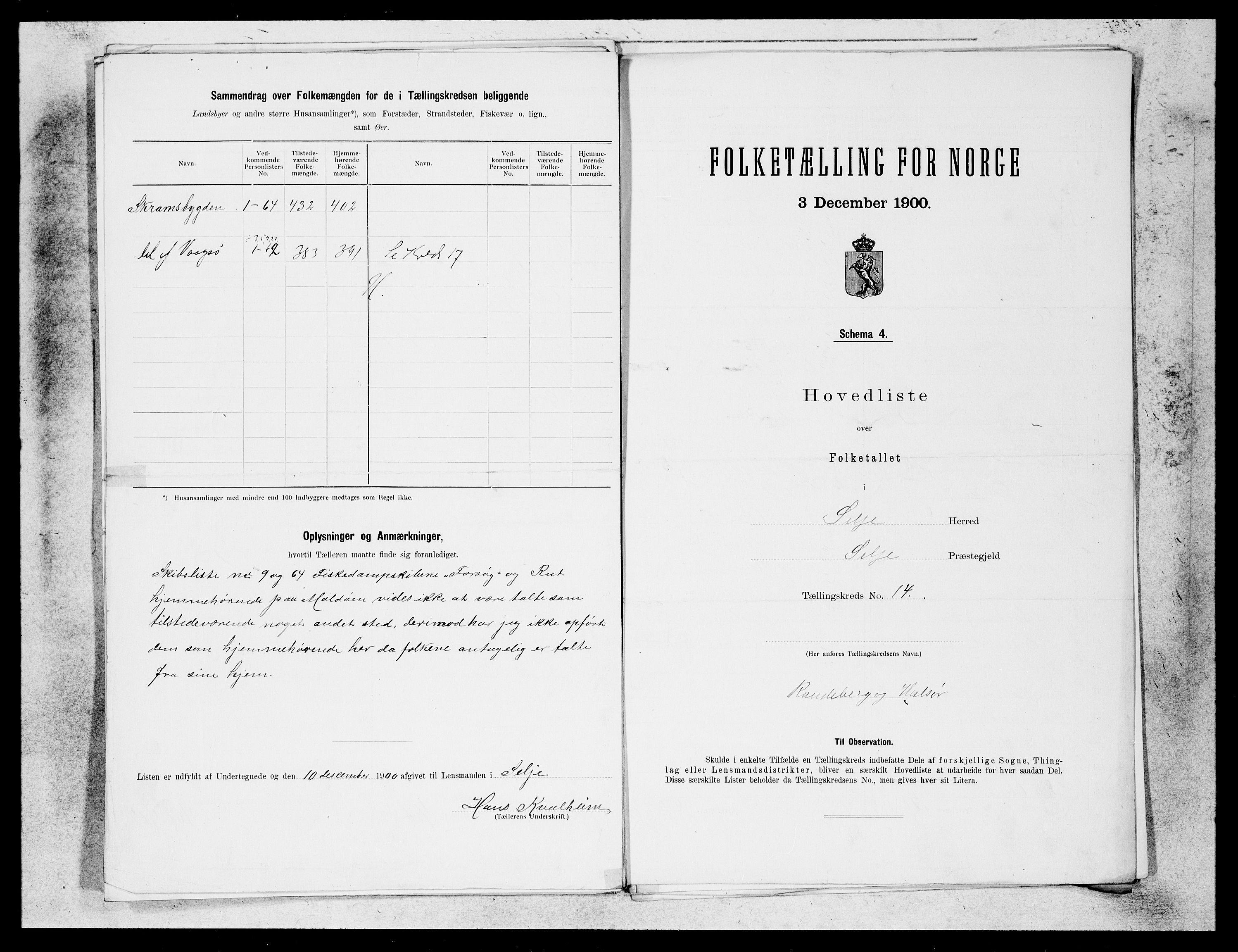 SAB, Folketelling 1900 for 1441 Selje herred, 1900, s. 27
