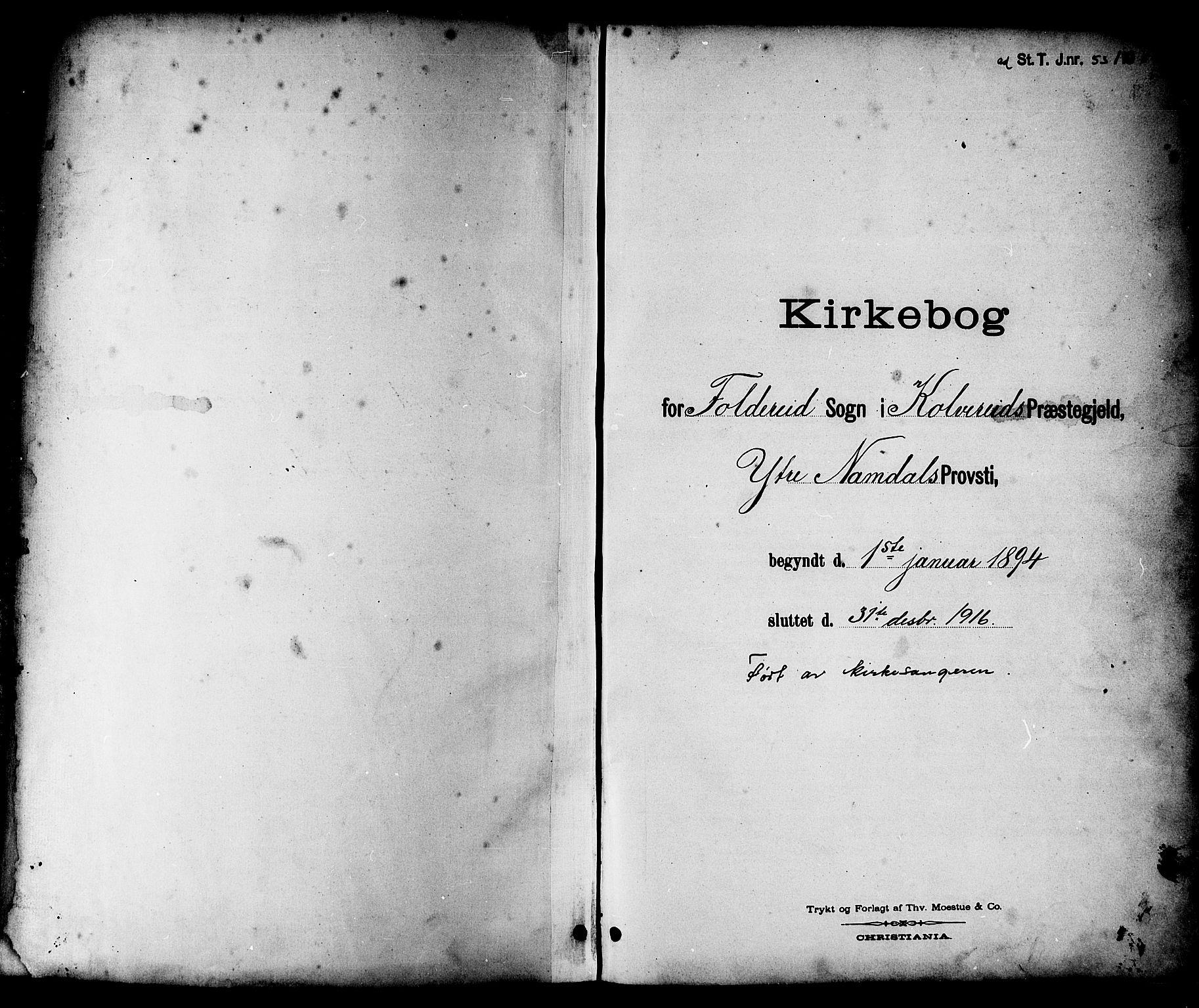 SAT, Ministerialprotokoller, klokkerbøker og fødselsregistre - Nord-Trøndelag, 783/L0662: Klokkerbok nr. 783C02, 1894-1919